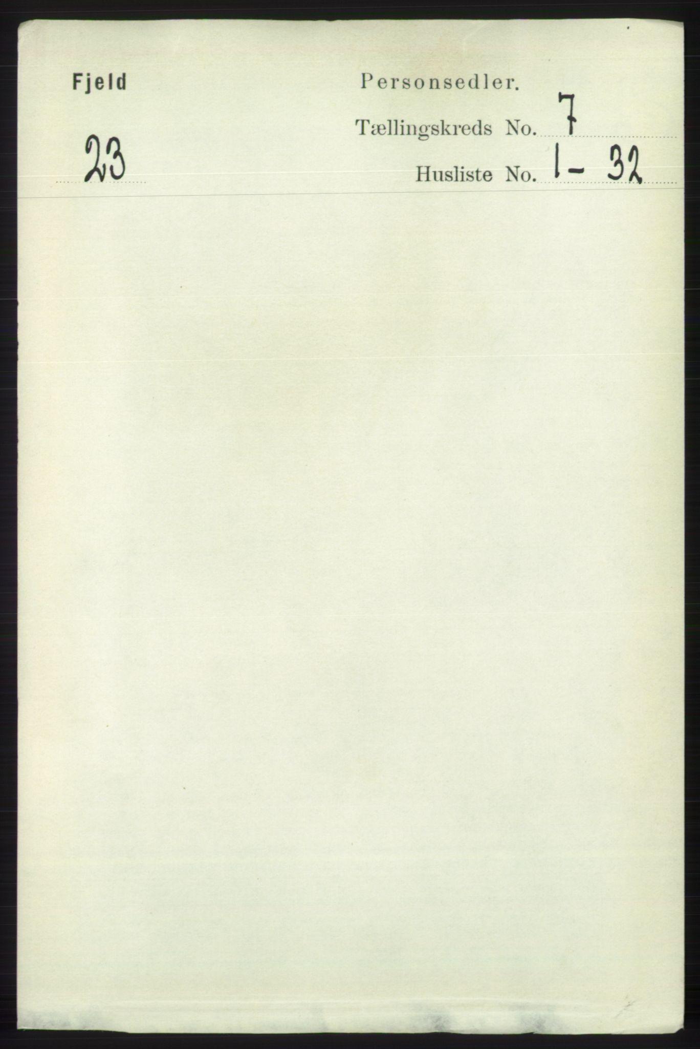 RA, Folketelling 1891 for 1246 Fjell herred, 1891, s. 3408