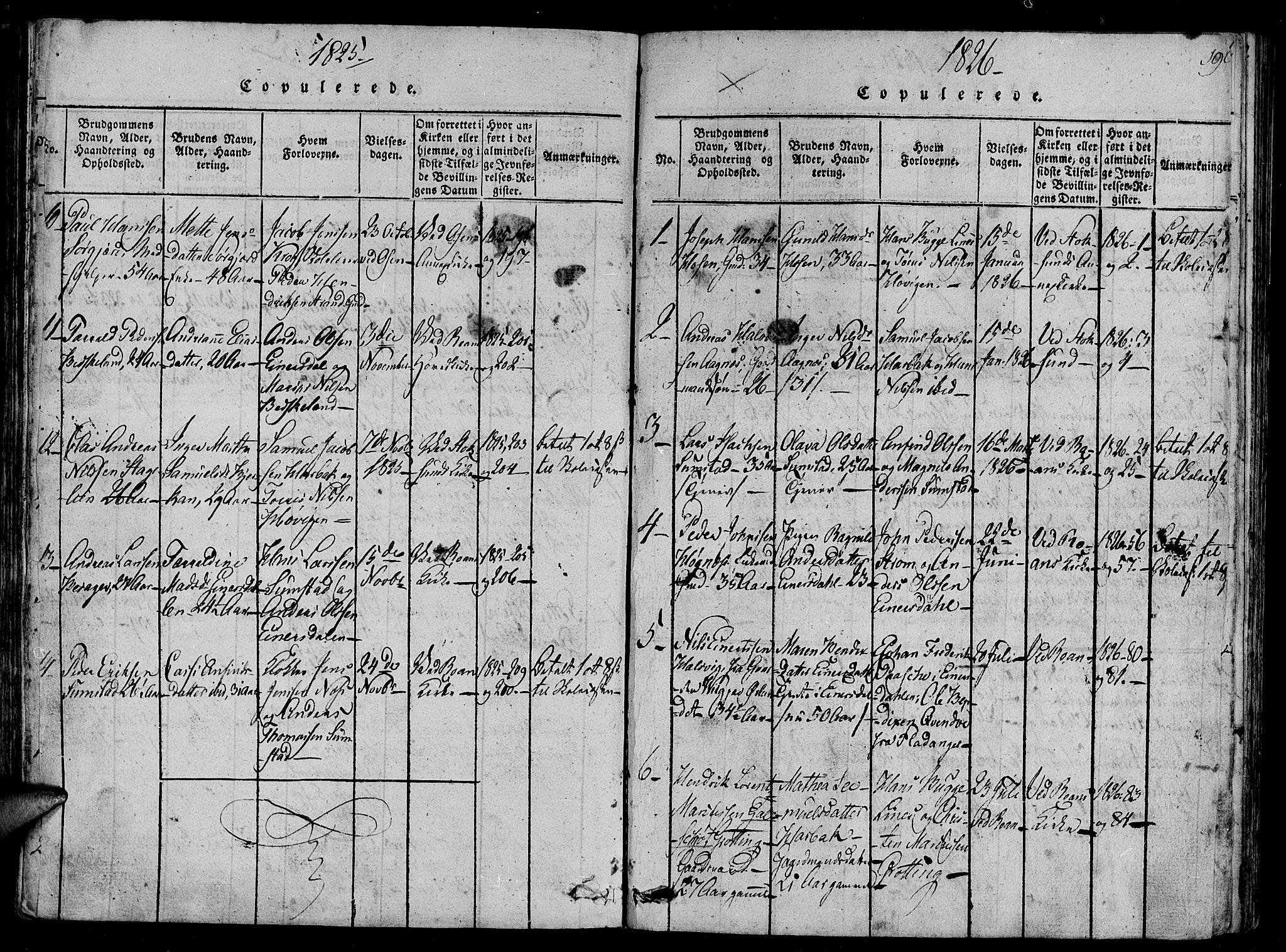 SAT, Ministerialprotokoller, klokkerbøker og fødselsregistre - Sør-Trøndelag, 657/L0702: Ministerialbok nr. 657A03, 1818-1831, s. 190