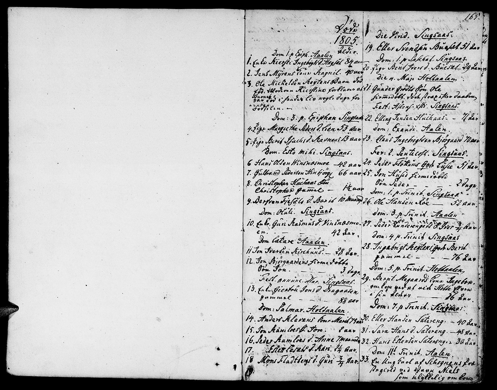 SAT, Ministerialprotokoller, klokkerbøker og fødselsregistre - Sør-Trøndelag, 685/L0953: Ministerialbok nr. 685A02, 1805-1816, s. 165