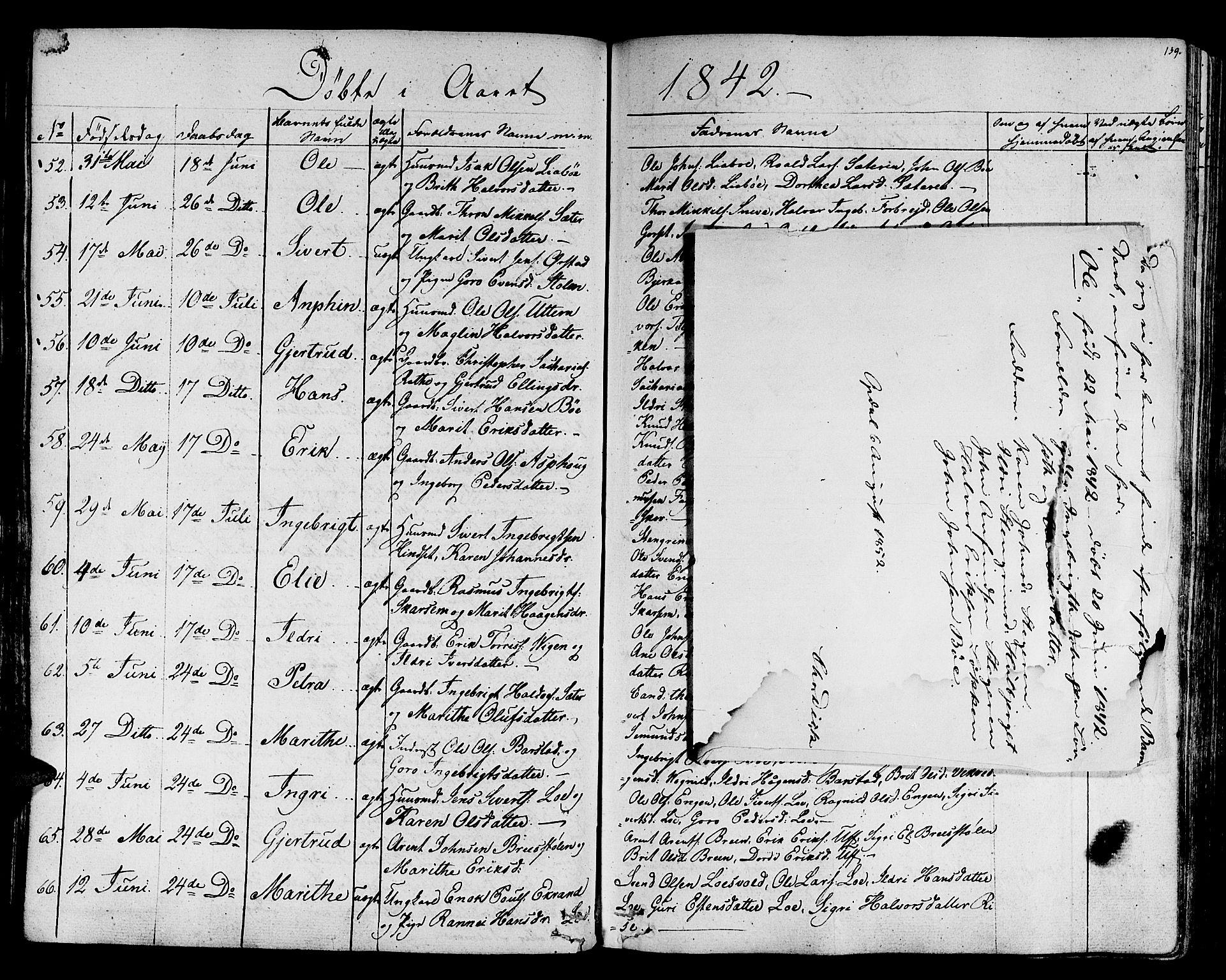 SAT, Ministerialprotokoller, klokkerbøker og fødselsregistre - Sør-Trøndelag, 678/L0897: Ministerialbok nr. 678A06-07, 1821-1847, s. 139
