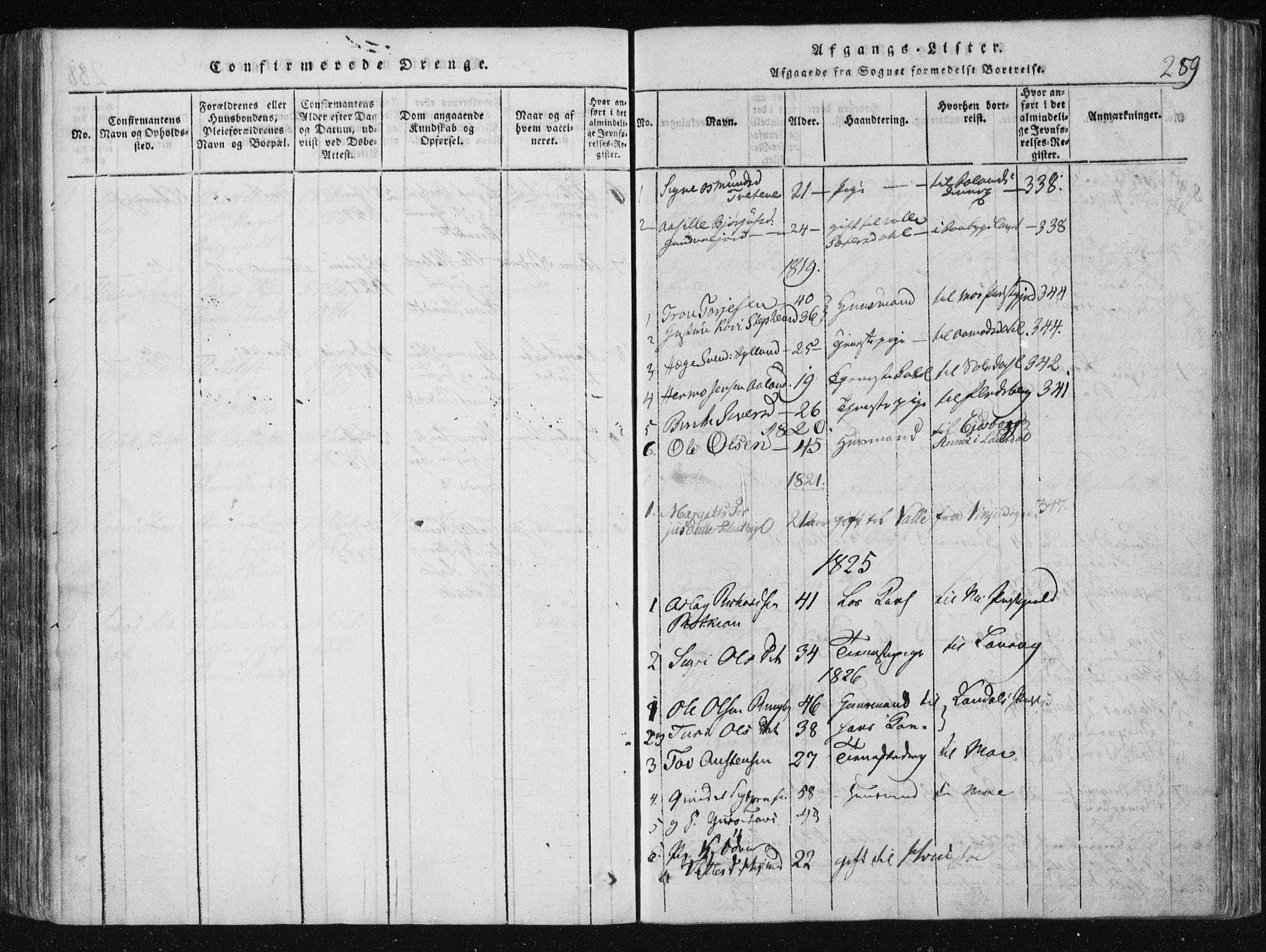 SAKO, Vinje kirkebøker, F/Fa/L0003: Ministerialbok nr. I 3, 1814-1843, s. 289
