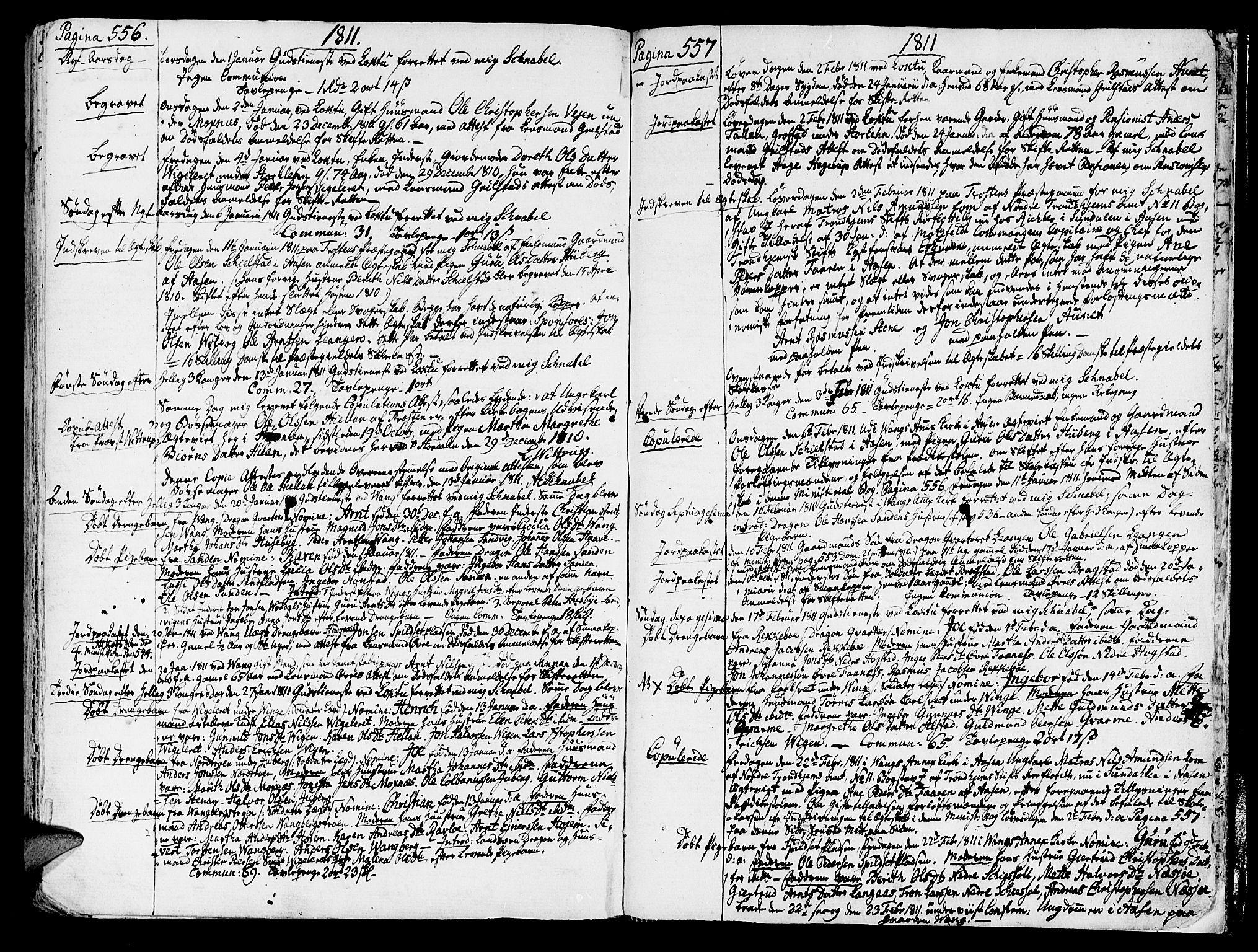 SAT, Ministerialprotokoller, klokkerbøker og fødselsregistre - Nord-Trøndelag, 713/L0110: Ministerialbok nr. 713A02, 1778-1811, s. 556-557