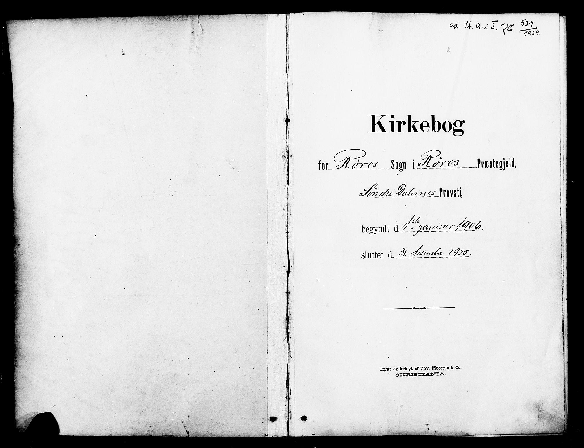 SAT, Ministerialprotokoller, klokkerbøker og fødselsregistre - Sør-Trøndelag, 681/L0942: Klokkerbok nr. 681C06, 1906-1925