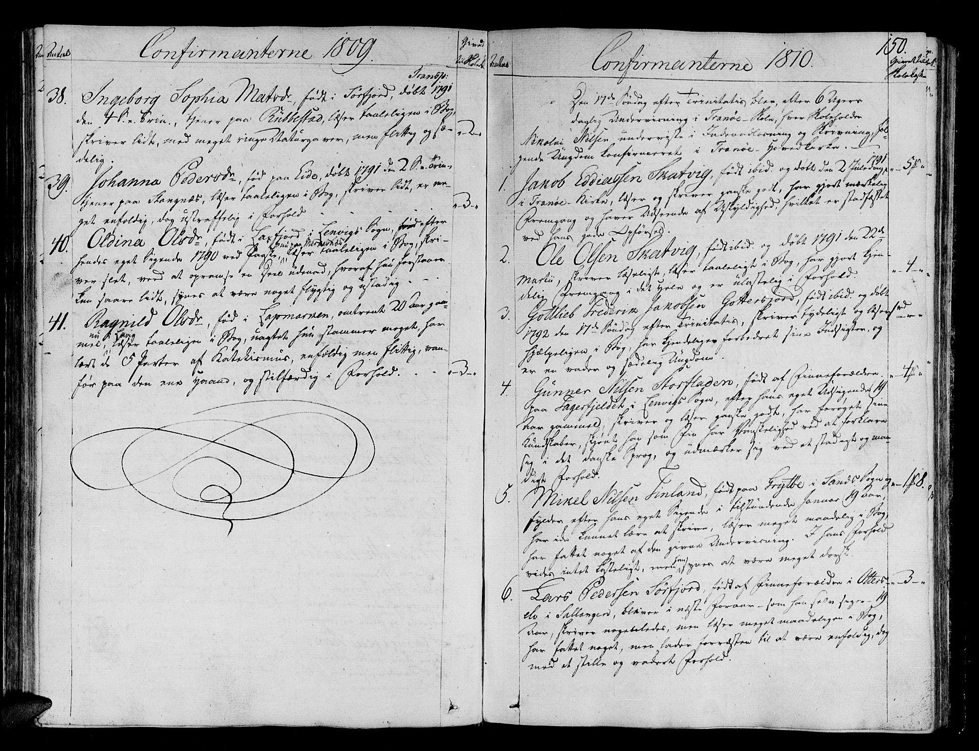 SATØ, Tranøy sokneprestkontor, I/Ia/Iaa/L0003kirke: Ministerialbok nr. 3, 1807-1820, s. 150