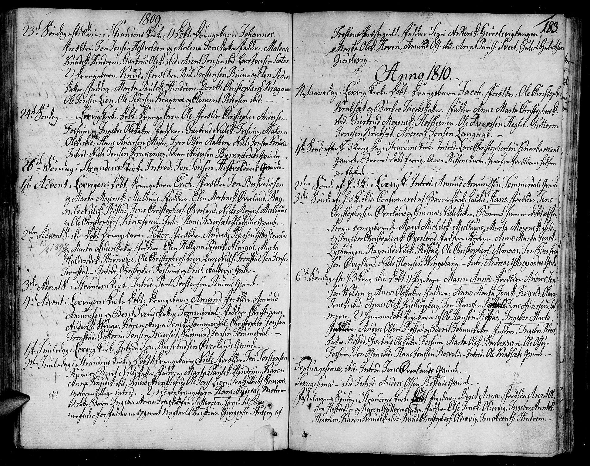 SAT, Ministerialprotokoller, klokkerbøker og fødselsregistre - Nord-Trøndelag, 701/L0004: Ministerialbok nr. 701A04, 1783-1816, s. 183