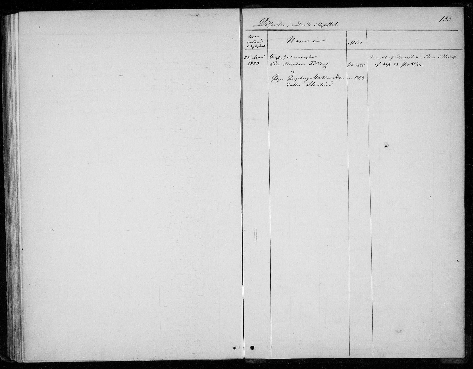 SAT, Ministerialprotokoller, klokkerbøker og fødselsregistre - Nord-Trøndelag, 720/L0186: Ministerialbok nr. 720A03, 1864-1874, s. 155