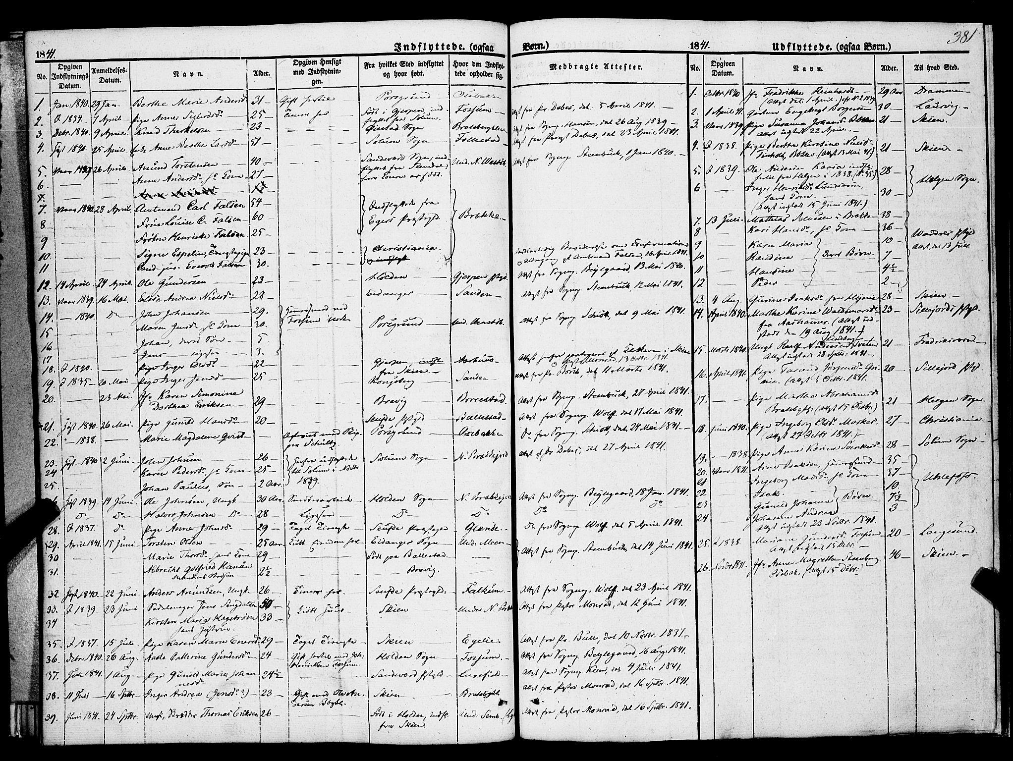 SAKO, Gjerpen kirkebøker, F/Fa/L0007b: Ministerialbok nr. 7B, 1834-1857, s. 381