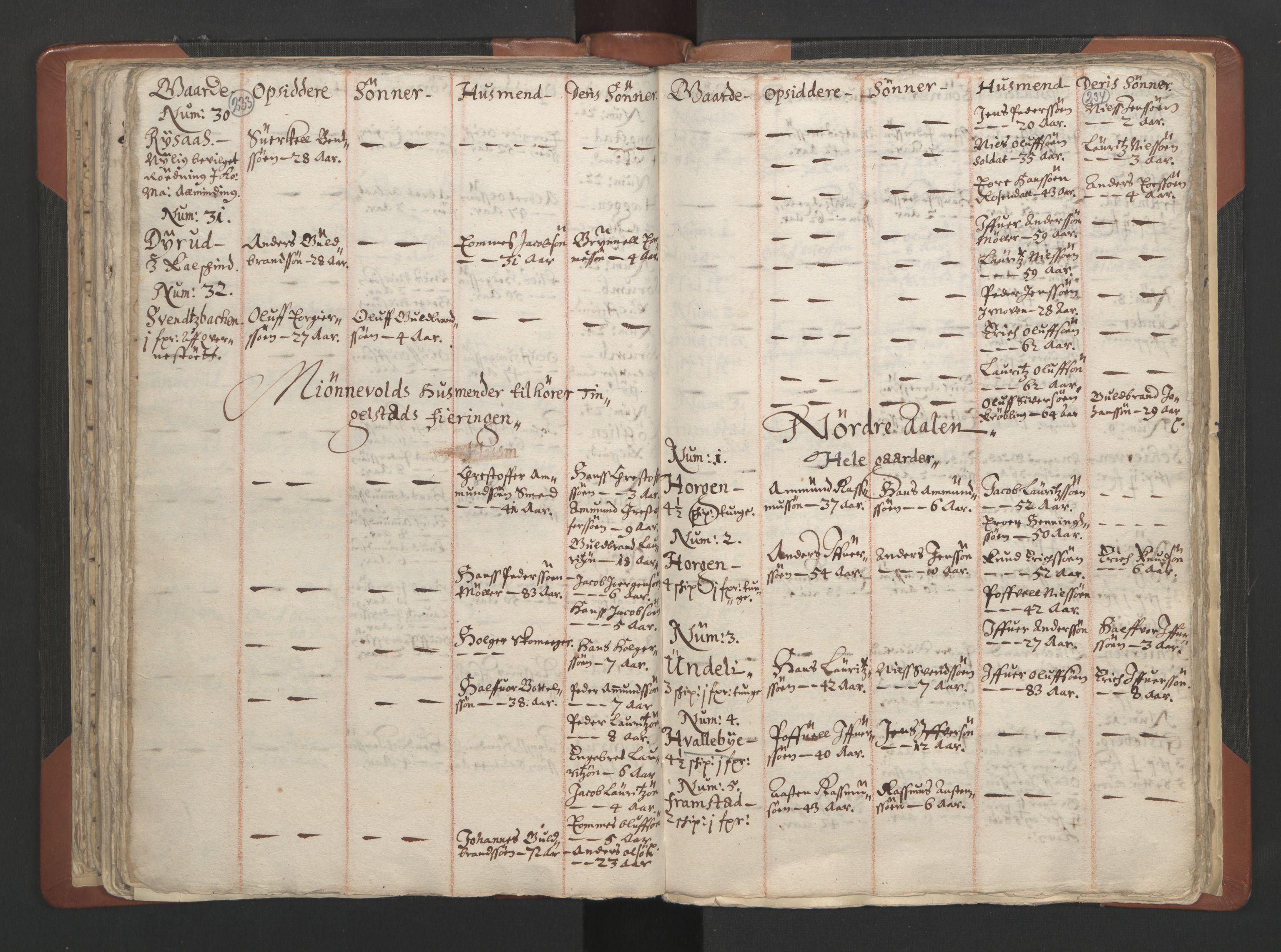 RA, Sogneprestenes manntall 1664-1666, nr. 7: Hadeland prosti, 1664-1666, s. 233-234