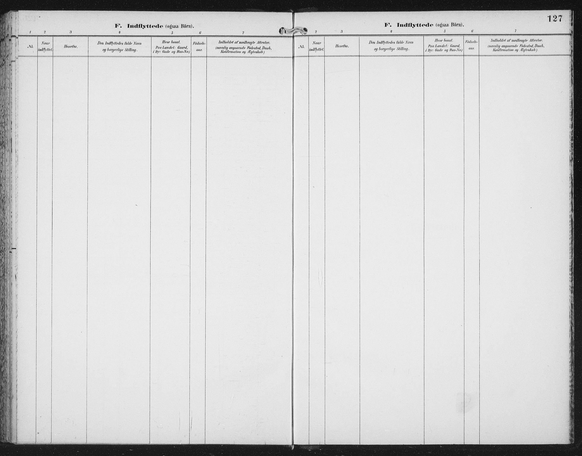 SAT, Ministerialprotokoller, klokkerbøker og fødselsregistre - Nord-Trøndelag, 702/L0024: Ministerialbok nr. 702A02, 1898-1914, s. 127