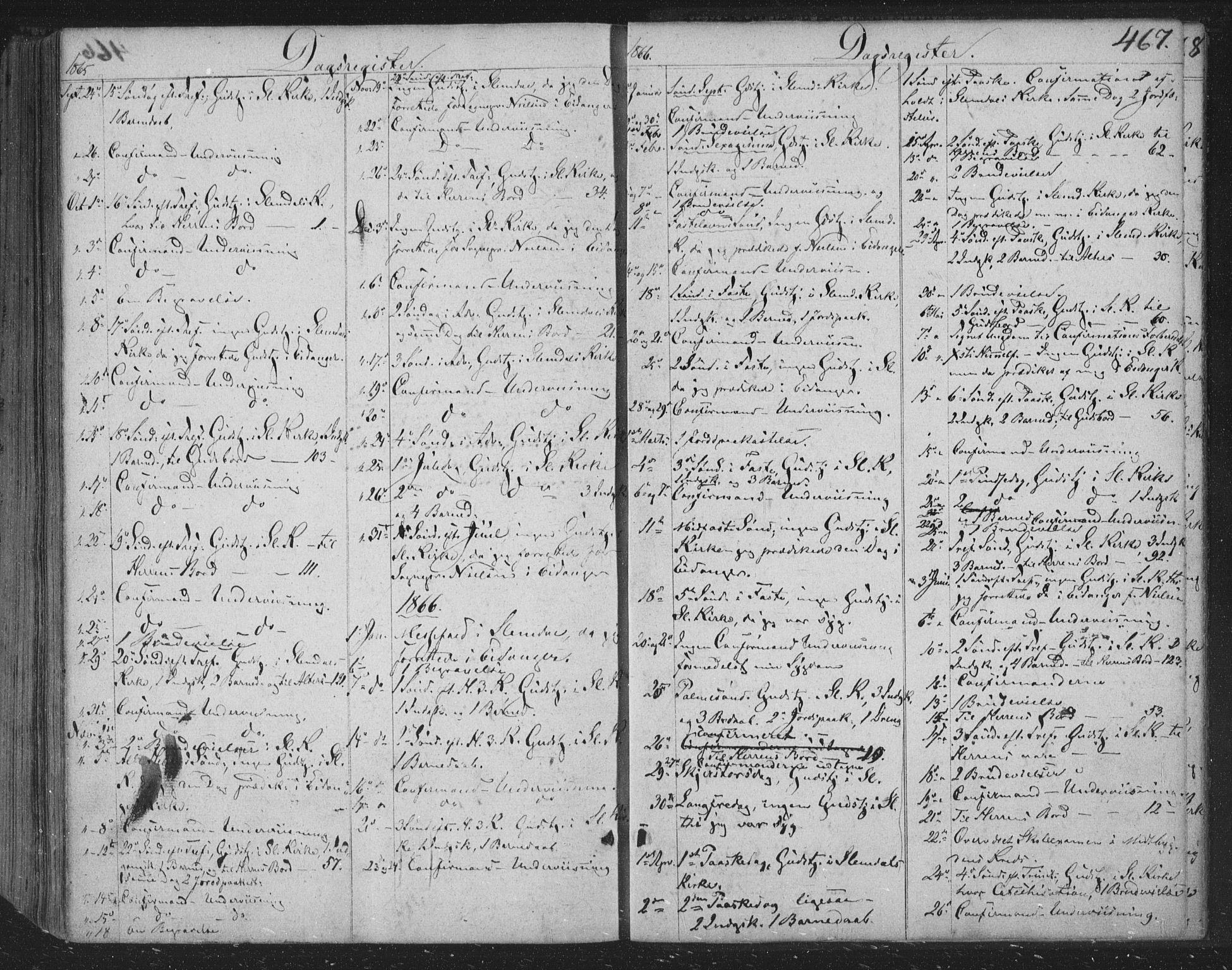 SAKO, Siljan kirkebøker, F/Fa/L0001: Ministerialbok nr. 1, 1831-1870, s. 467