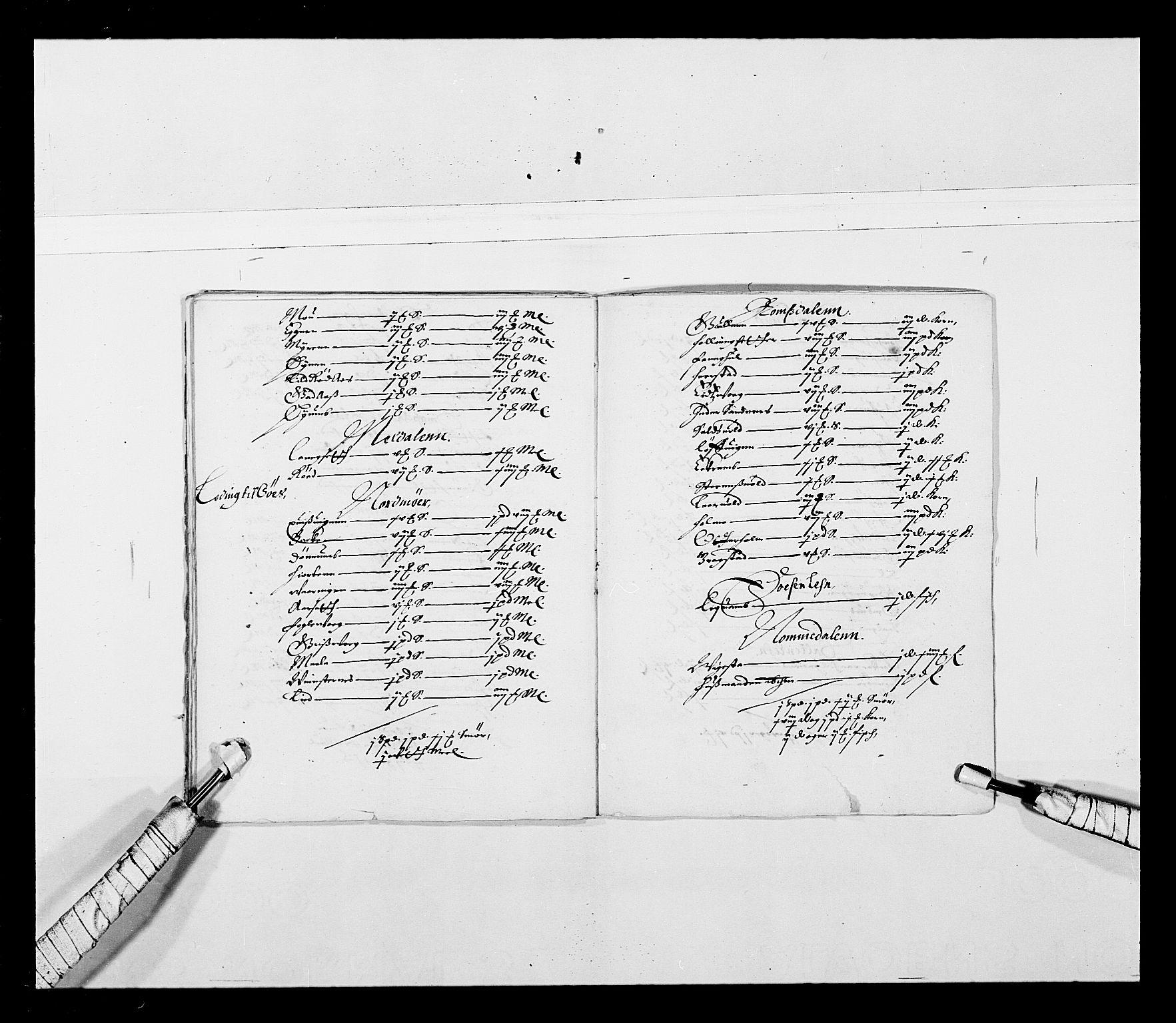 RA, Stattholderembetet 1572-1771, Ek/L0027: Jordebøker 1633-1658:, 1644-1645, s. 50