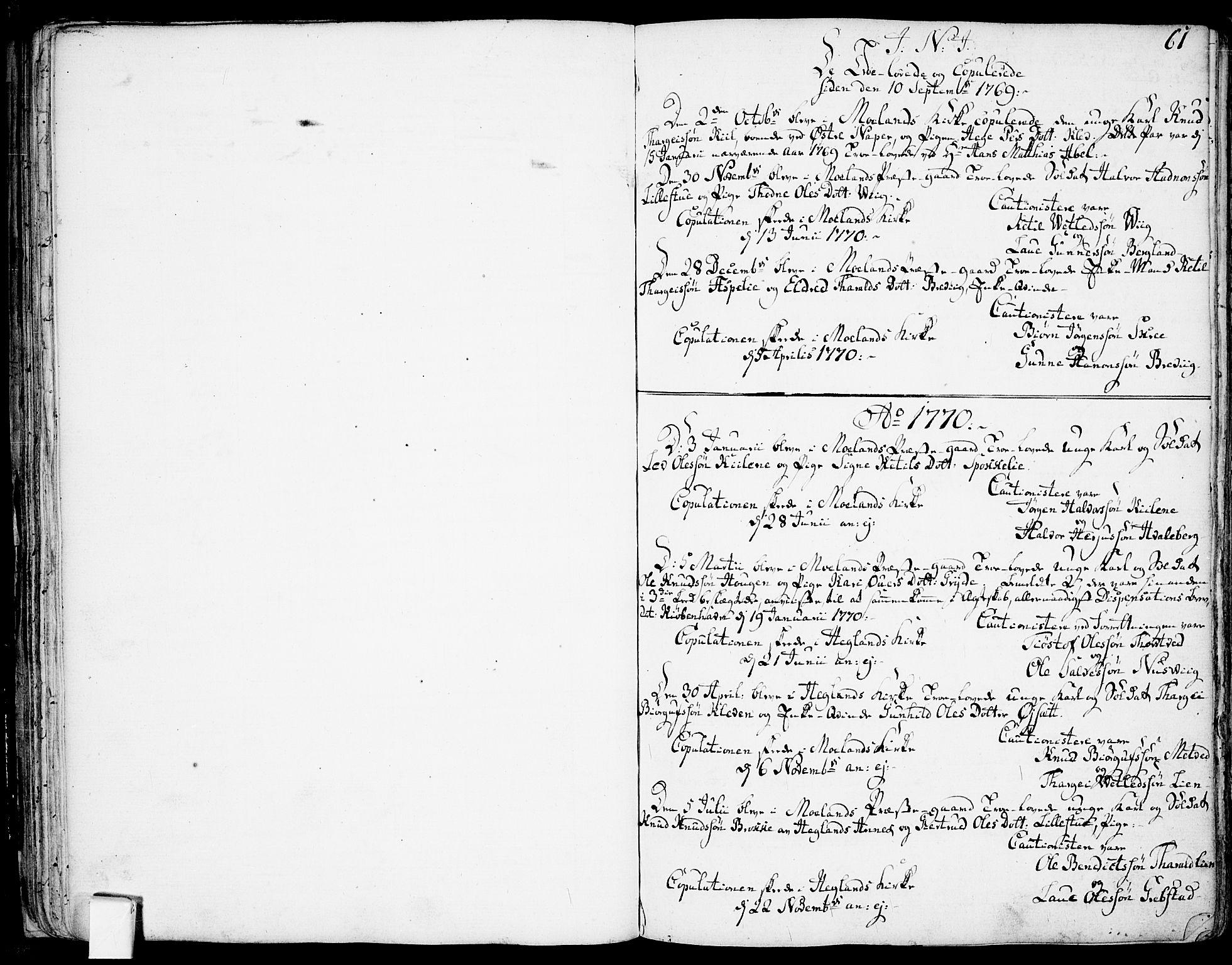 SAKO, Fyresdal kirkebøker, F/Fa/L0002: Ministerialbok nr. I 2, 1769-1814, s. 61