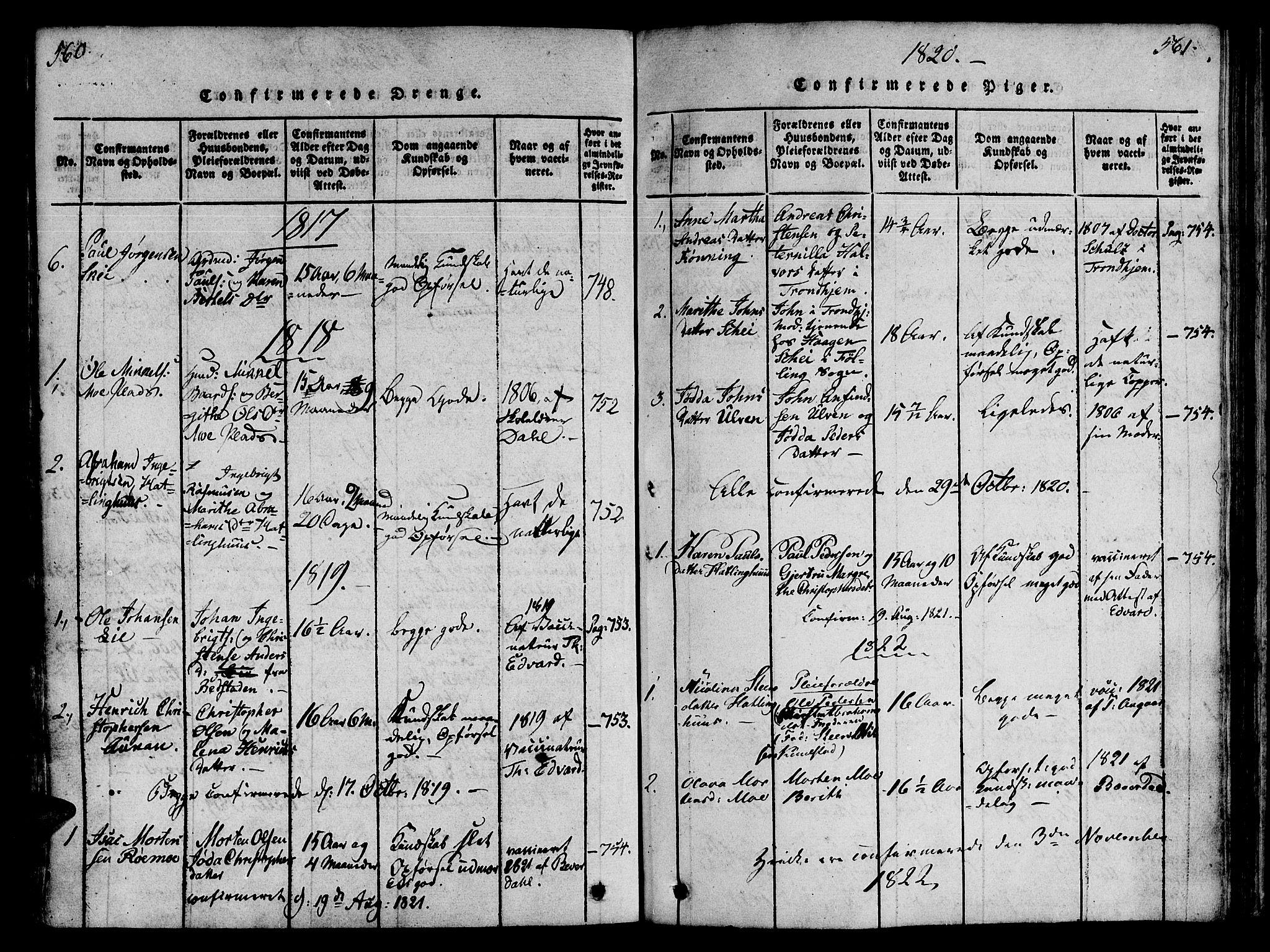 SAT, Ministerialprotokoller, klokkerbøker og fødselsregistre - Nord-Trøndelag, 746/L0441: Ministerialbok nr. 746A03 /4, 1816-1827, s. 560-561