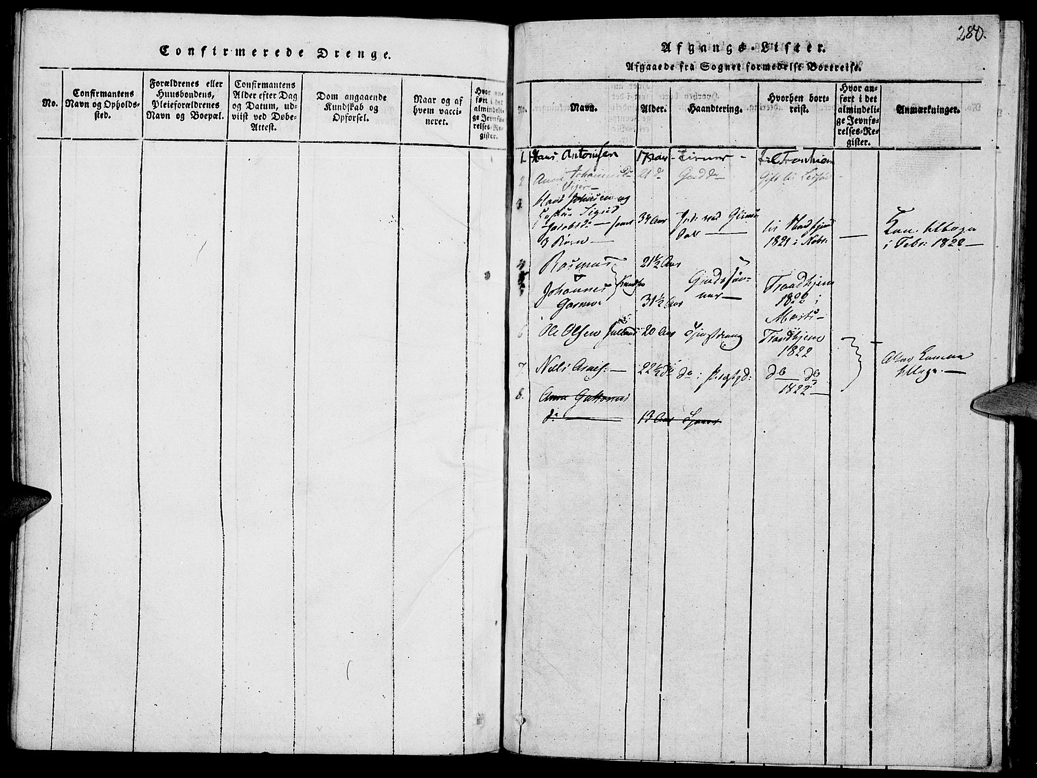 SAH, Lom prestekontor, K/L0004: Ministerialbok nr. 4, 1815-1825, s. 280