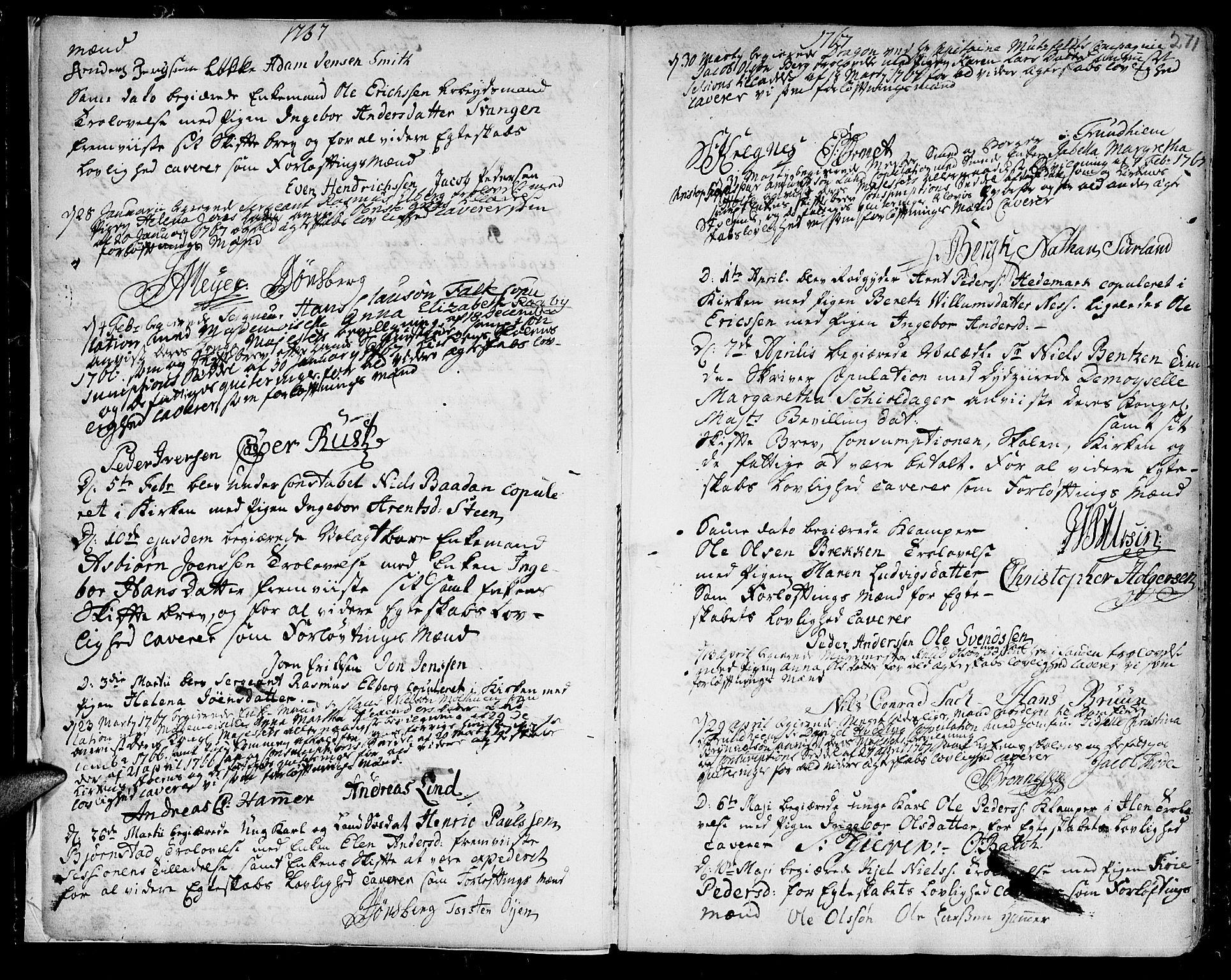 SAT, Ministerialprotokoller, klokkerbøker og fødselsregistre - Sør-Trøndelag, 601/L0038: Ministerialbok nr. 601A06, 1766-1877, s. 271