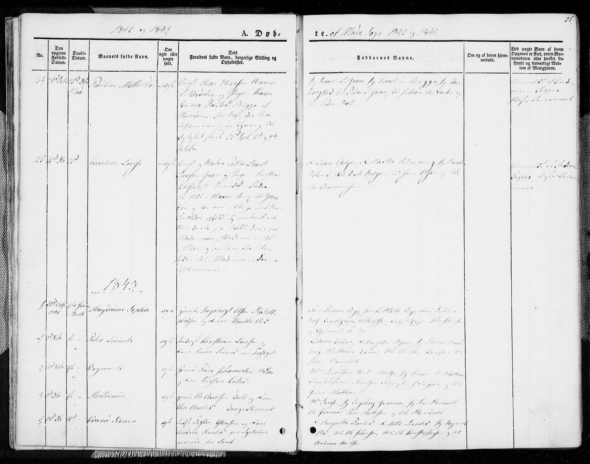SAT, Ministerialprotokoller, klokkerbøker og fødselsregistre - Sør-Trøndelag, 606/L0290: Ministerialbok nr. 606A05, 1841-1847, s. 25