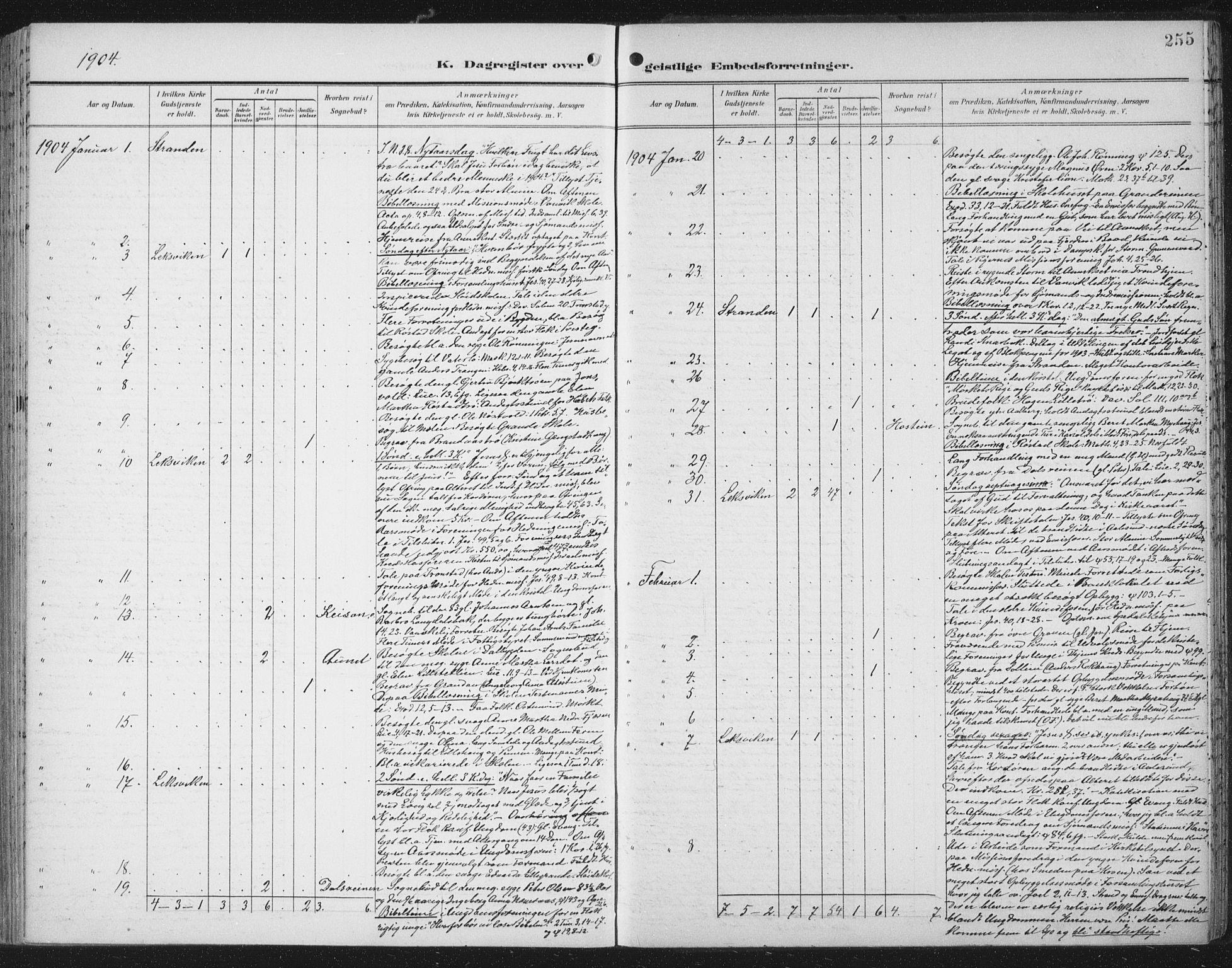 SAT, Ministerialprotokoller, klokkerbøker og fødselsregistre - Nord-Trøndelag, 701/L0011: Ministerialbok nr. 701A11, 1899-1915, s. 255