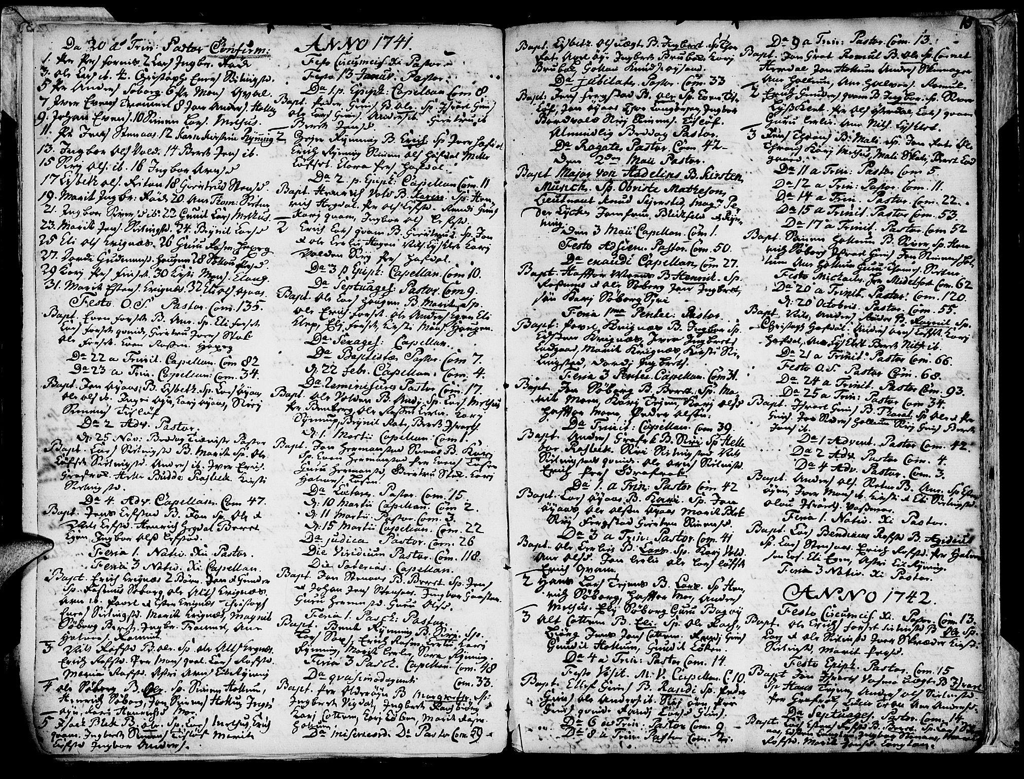 SAT, Ministerialprotokoller, klokkerbøker og fødselsregistre - Sør-Trøndelag, 691/L1057: Ministerialbok nr. 691A01 /1, 1740-1767, s. 16