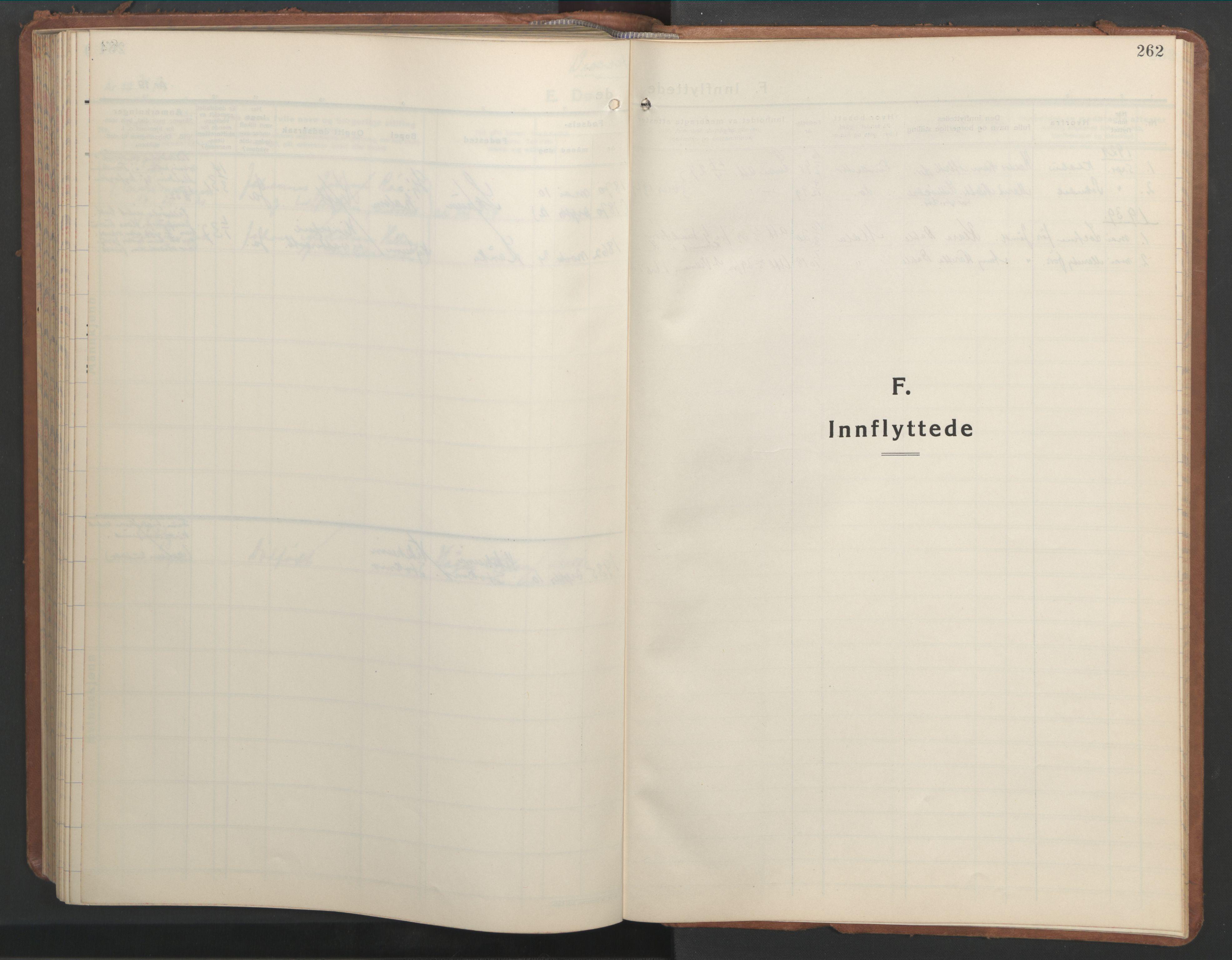 SAT, Ministerialprotokoller, klokkerbøker og fødselsregistre - Nord-Trøndelag, 709/L0089: Klokkerbok nr. 709C03, 1935-1948, s. 262