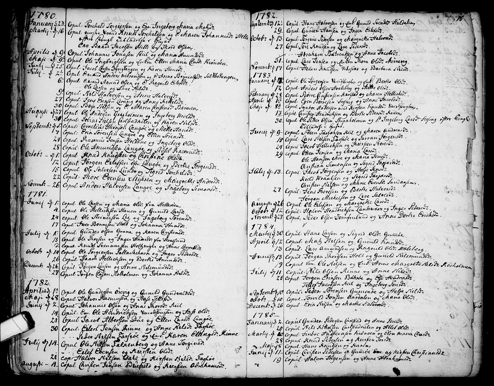 SAKO, Sannidal kirkebøker, F/Fa/L0002: Ministerialbok nr. 2, 1767-1802, s. 16