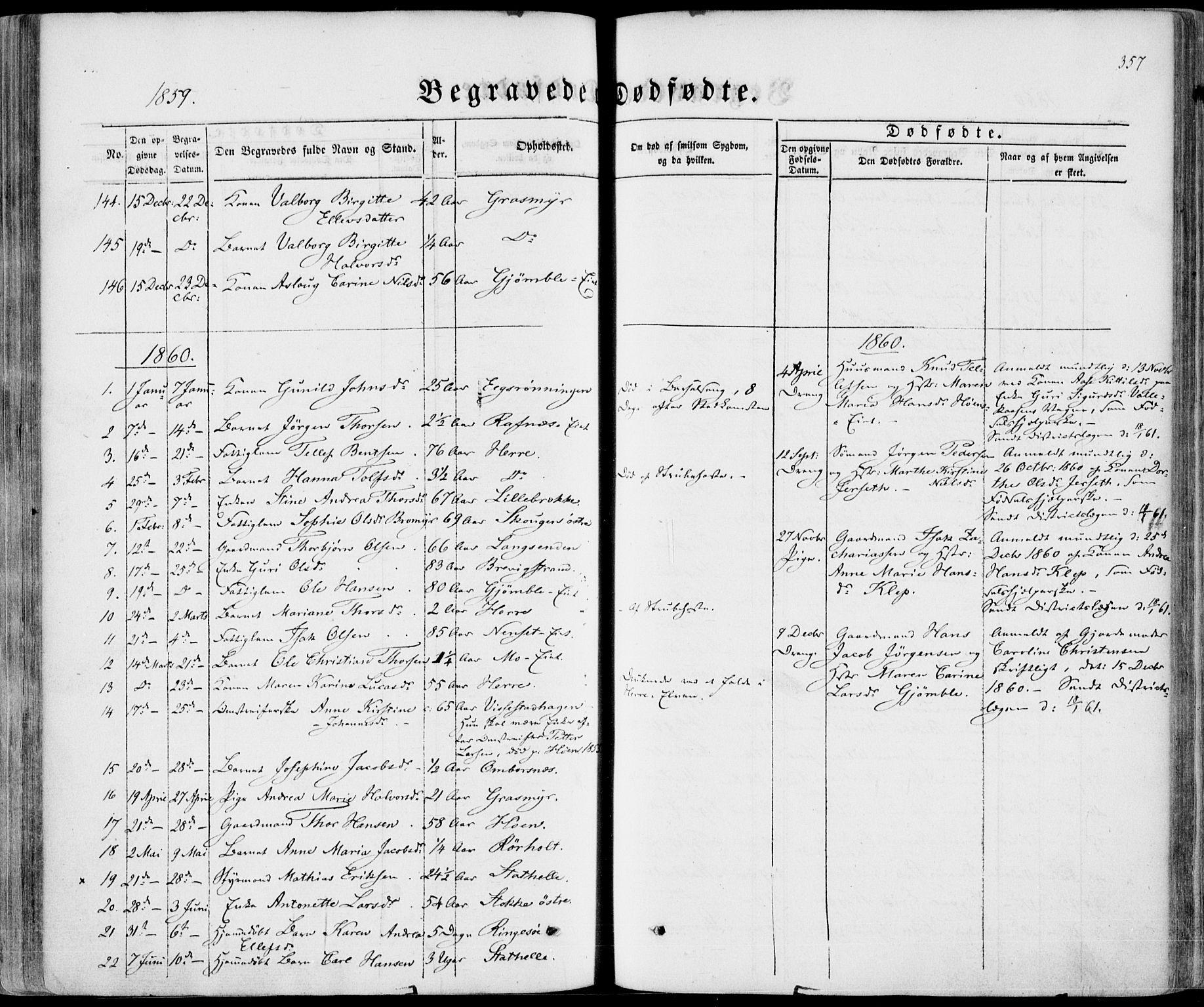 SAKO, Bamble kirkebøker, F/Fa/L0005: Ministerialbok nr. I 5, 1854-1869, s. 357