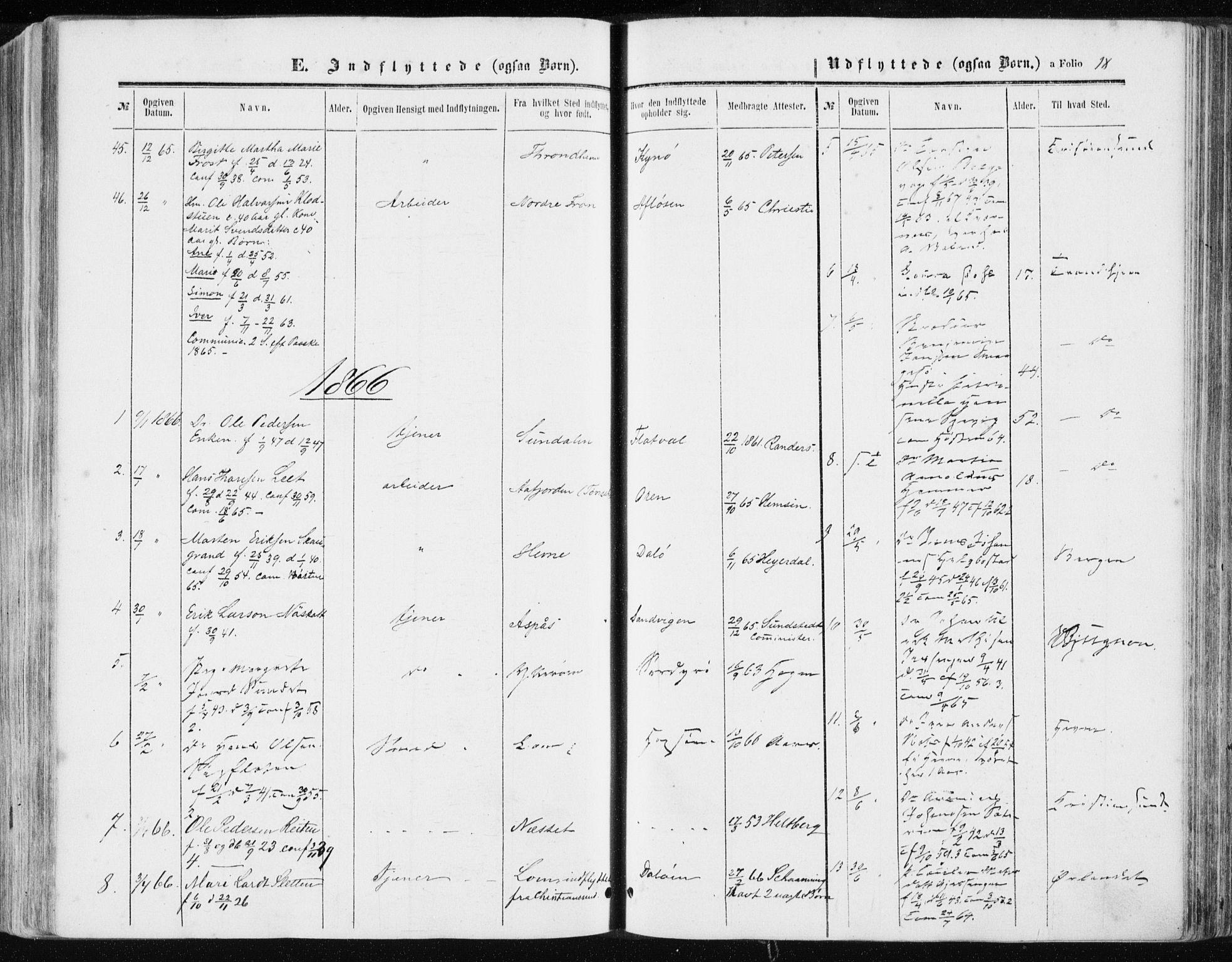 SAT, Ministerialprotokoller, klokkerbøker og fødselsregistre - Sør-Trøndelag, 634/L0531: Ministerialbok nr. 634A07, 1861-1870, s. 18