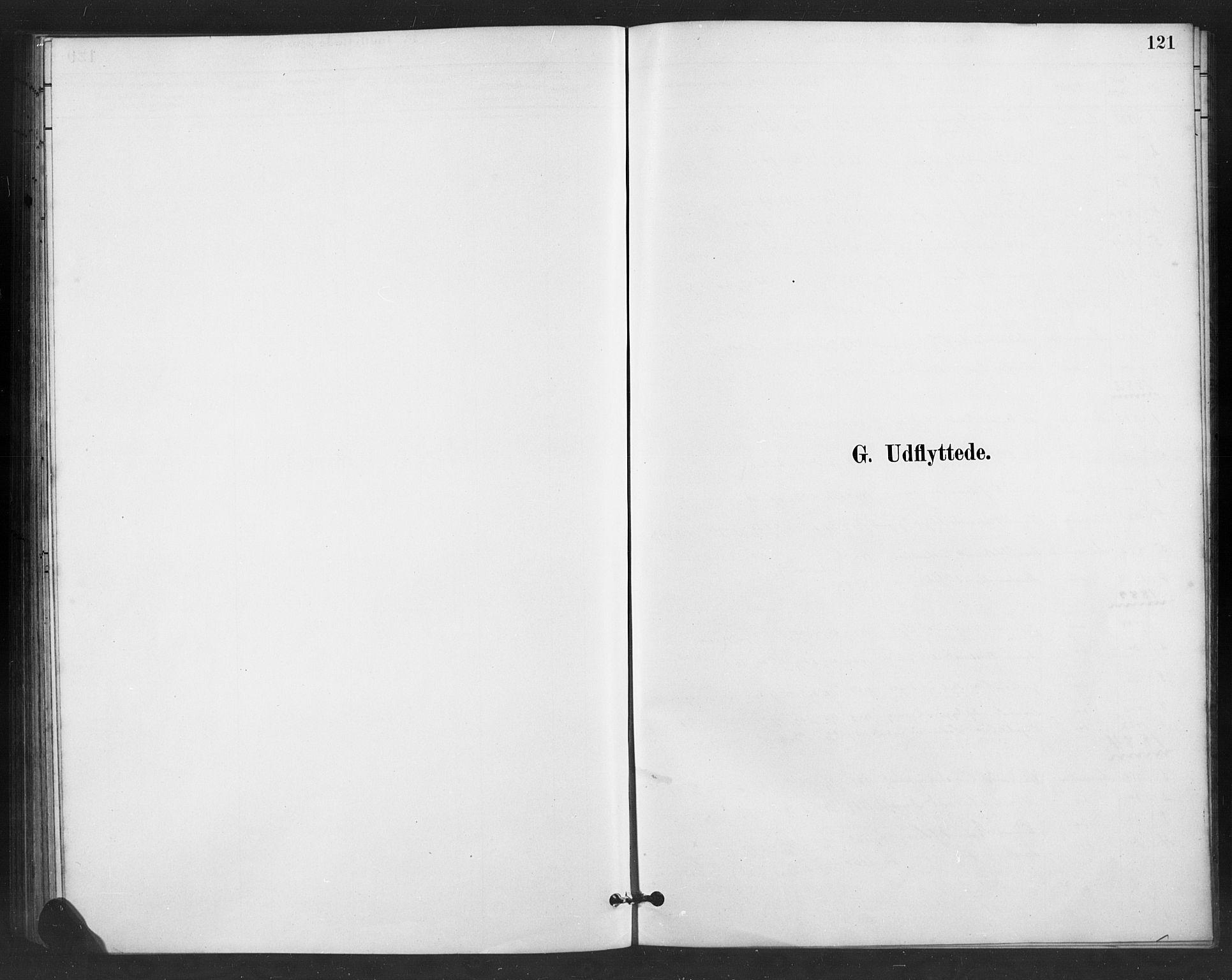 SAH, Vestre Slidre prestekontor, Klokkerbok nr. 6, 1881-1915, s. 121