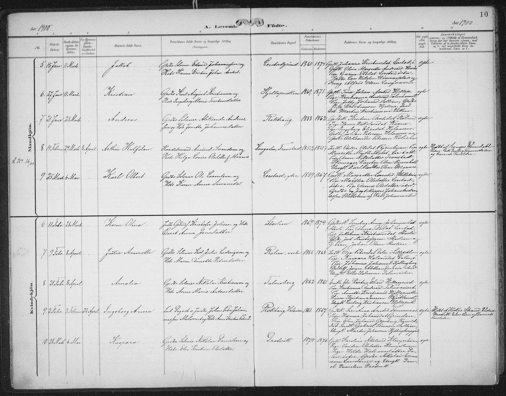 SAT, Ministerialprotokoller, klokkerbøker og fødselsregistre - Nord-Trøndelag, 701/L0011: Ministerialbok nr. 701A11, 1899-1915, s. 10