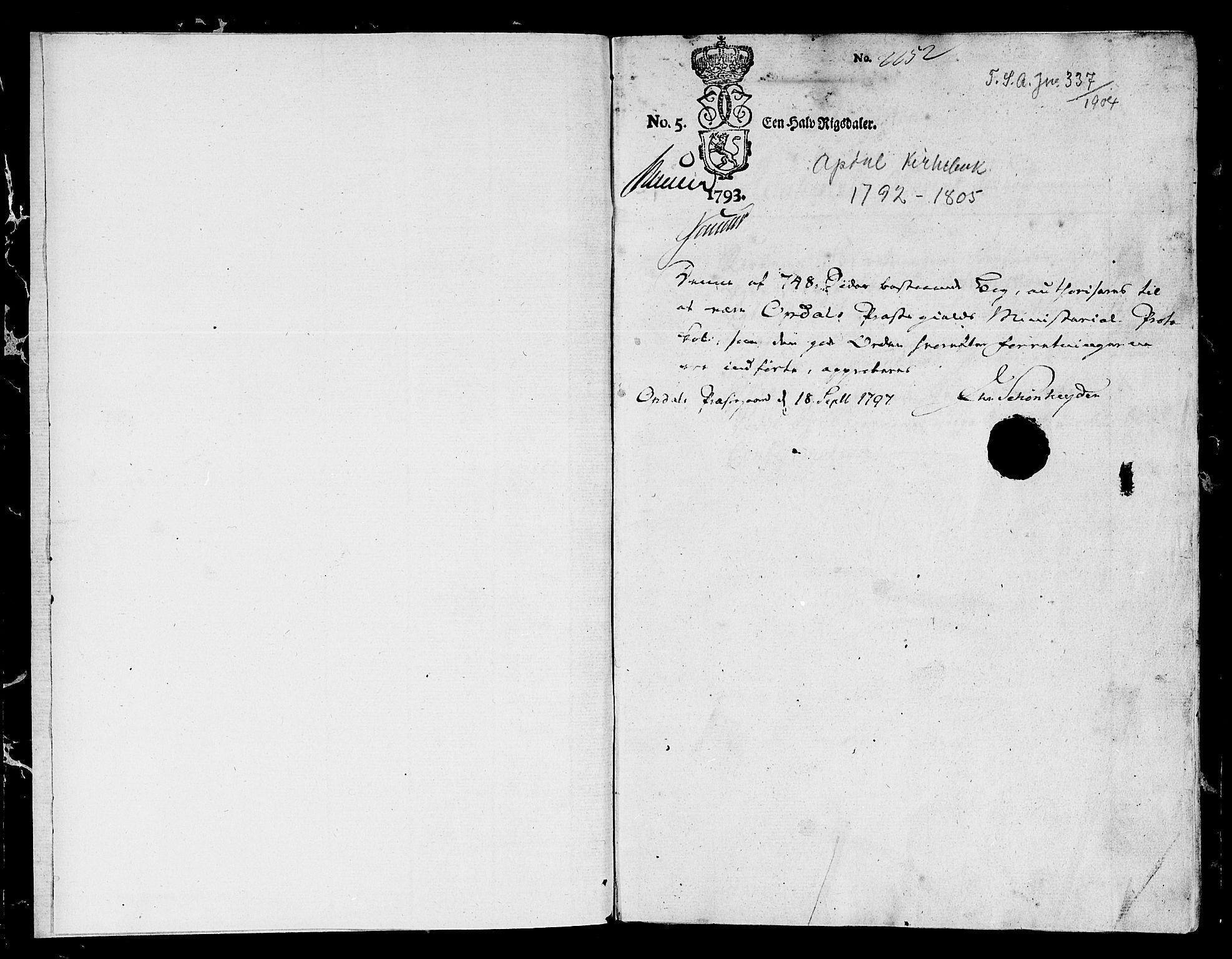 SAT, Ministerialprotokoller, klokkerbøker og fødselsregistre - Sør-Trøndelag, 678/L0893: Ministerialbok nr. 678A03, 1792-1805