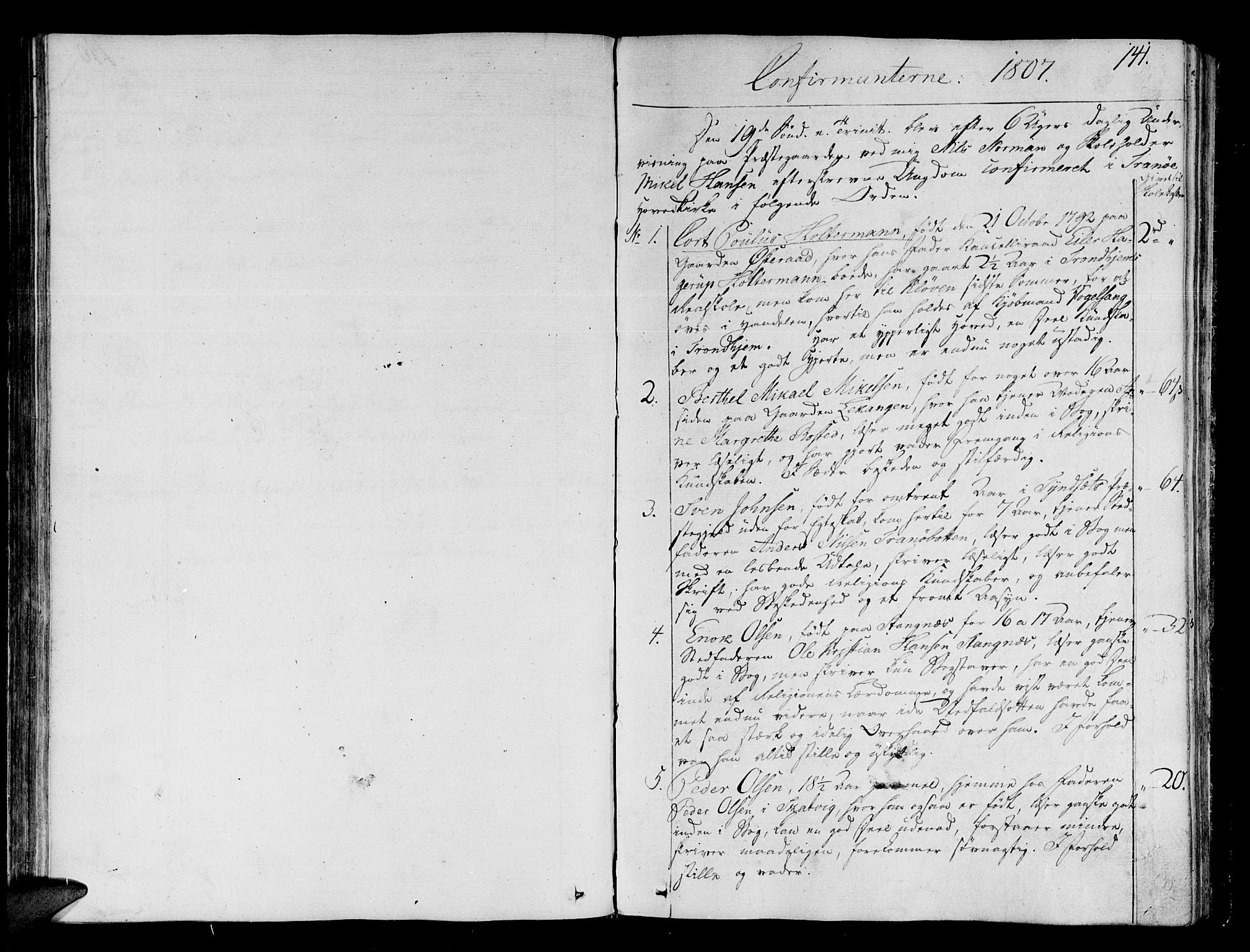 SATØ, Tranøy sokneprestkontor, I/Ia/Iaa/L0003kirke: Ministerialbok nr. 3, 1807-1820, s. 141