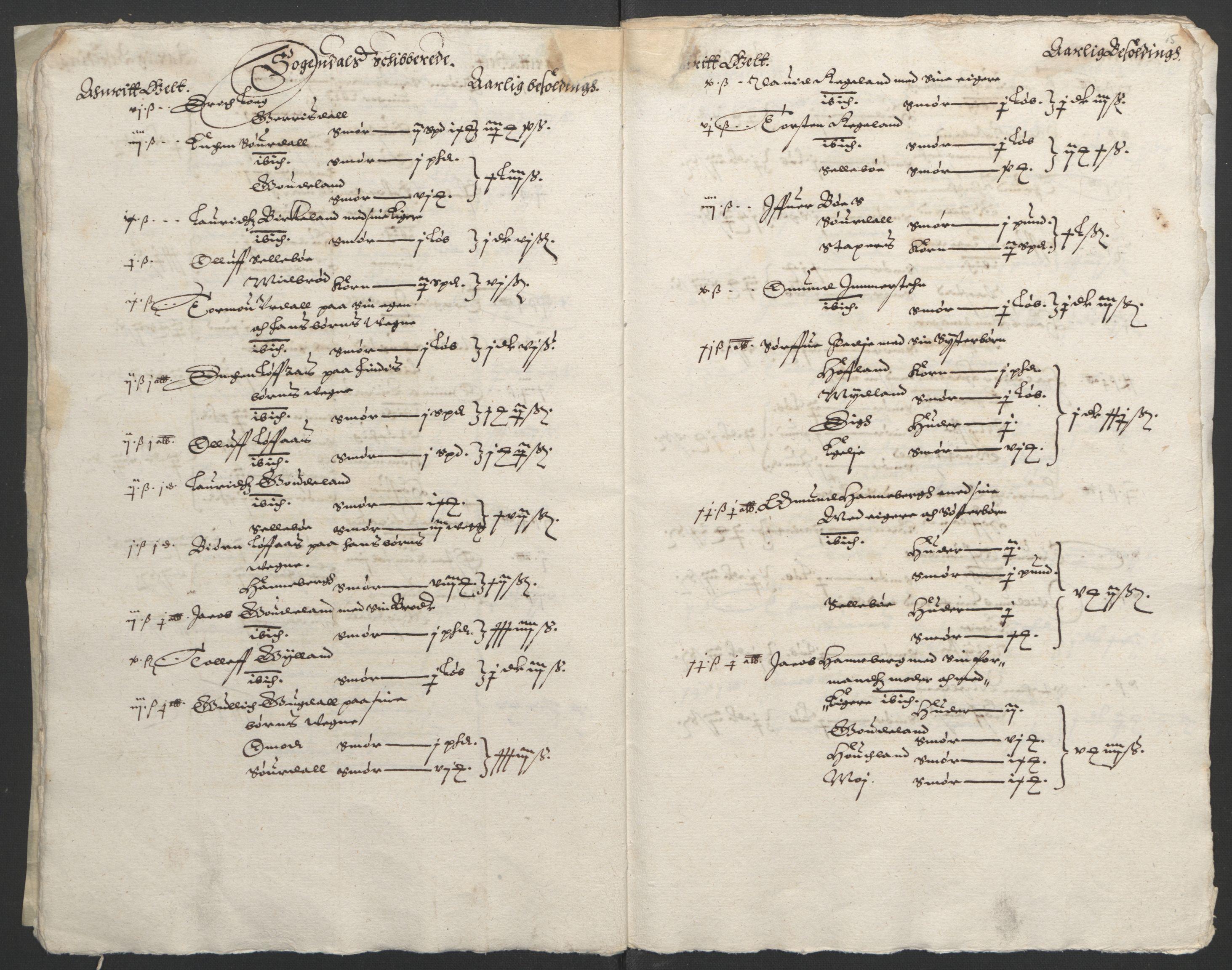 RA, Stattholderembetet 1572-1771, Ek/L0010: Jordebøker til utlikning av rosstjeneste 1624-1626:, 1624-1626, s. 109