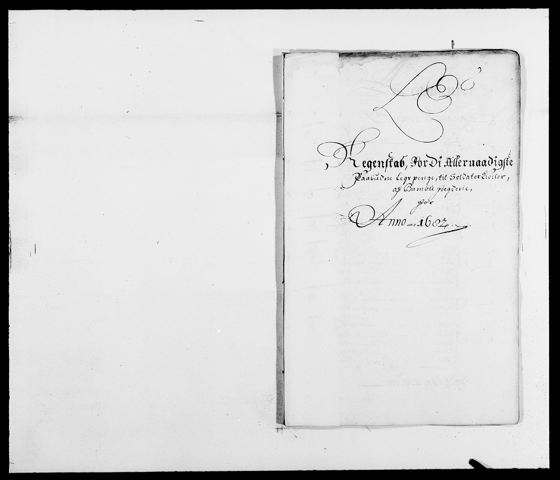 RA, Rentekammeret inntil 1814, Reviderte regnskaper, Fogderegnskap, R34/L2046: Fogderegnskap Bamble, 1682-1683, s. 140