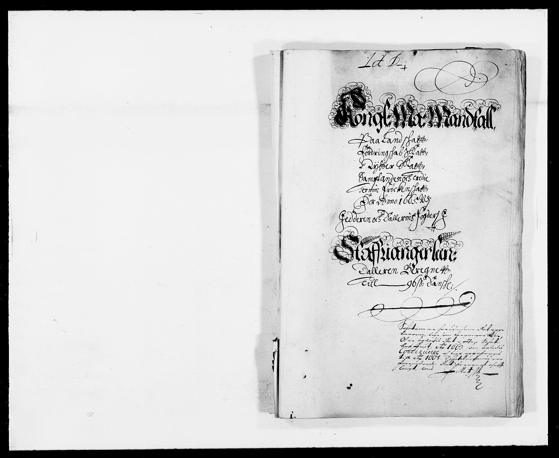 RA, Rentekammeret inntil 1814, Reviderte regnskaper, Fogderegnskap, R46/L2709: Fogderegnskap Jæren og Dalane, 1665-1667, s. 61