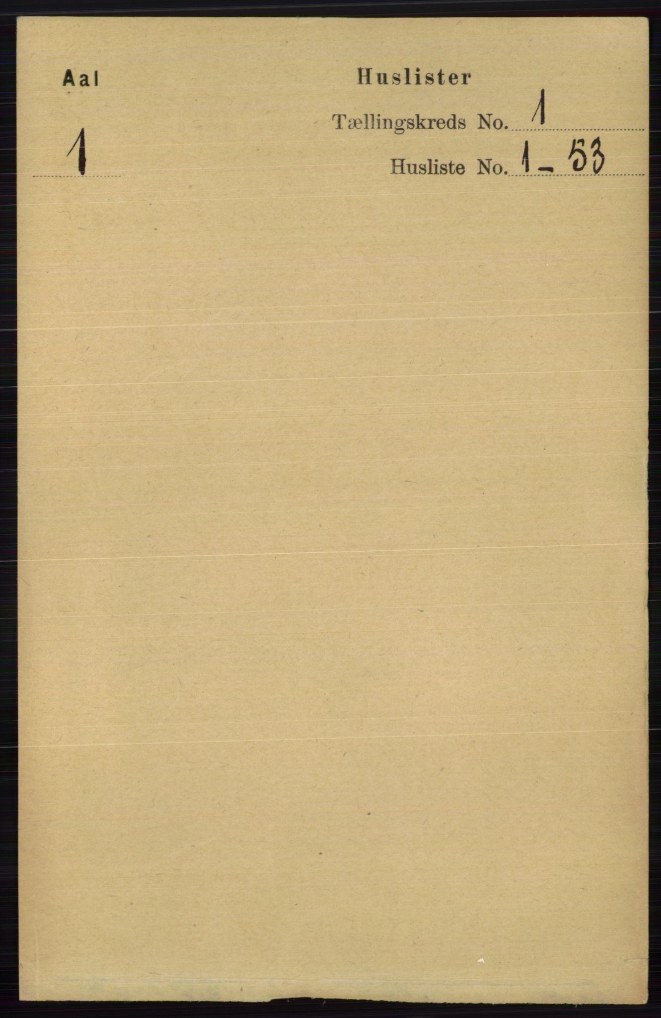 RA, Folketelling 1891 for 0619 Ål herred, 1891, s. 39