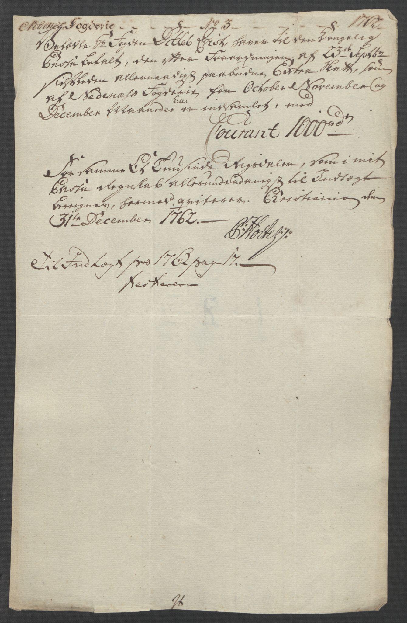 RA, Rentekammeret inntil 1814, Reviderte regnskaper, Fogderegnskap, R39/L2424: Ekstraskatten Nedenes, 1762-1767, s. 18