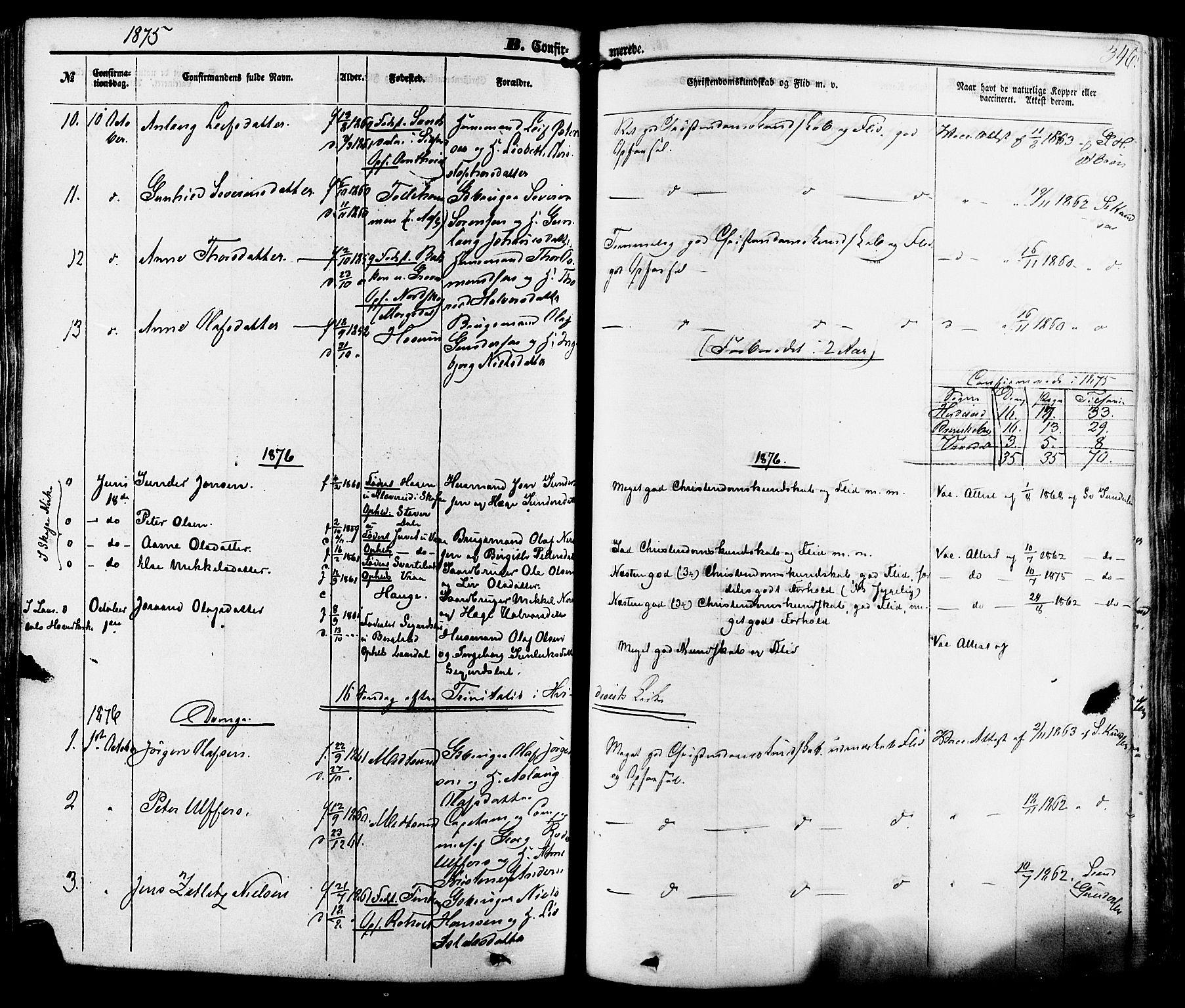 SAKO, Kviteseid kirkebøker, F/Fa/L0007: Ministerialbok nr. I 7, 1859-1881, s. 346