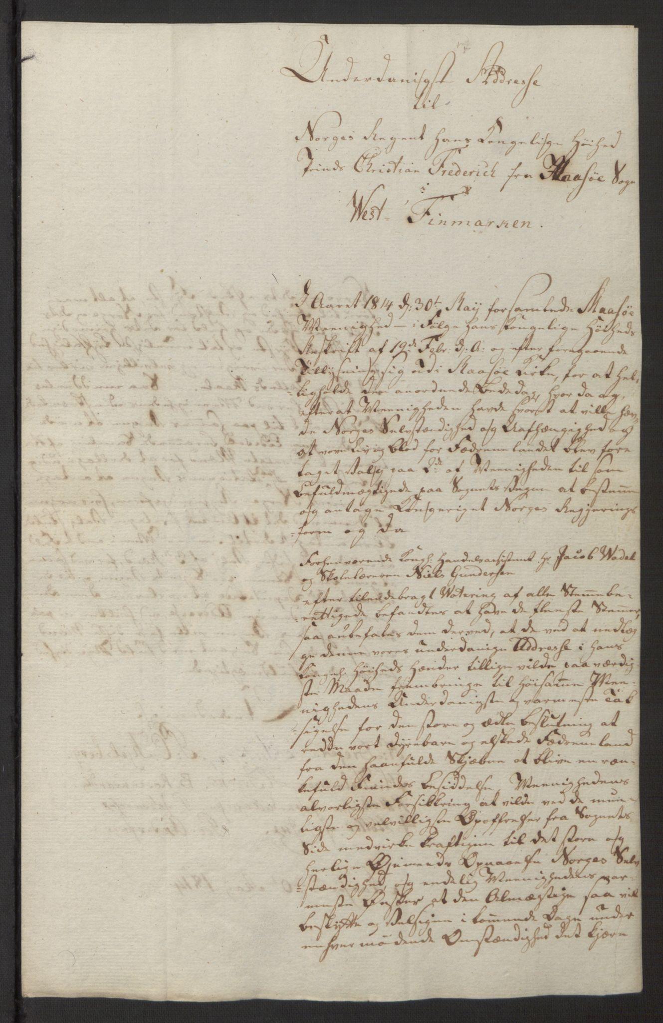 SATØ, Amtmannen/Fylkesmannen i Finnmark*, 1814, s. 12