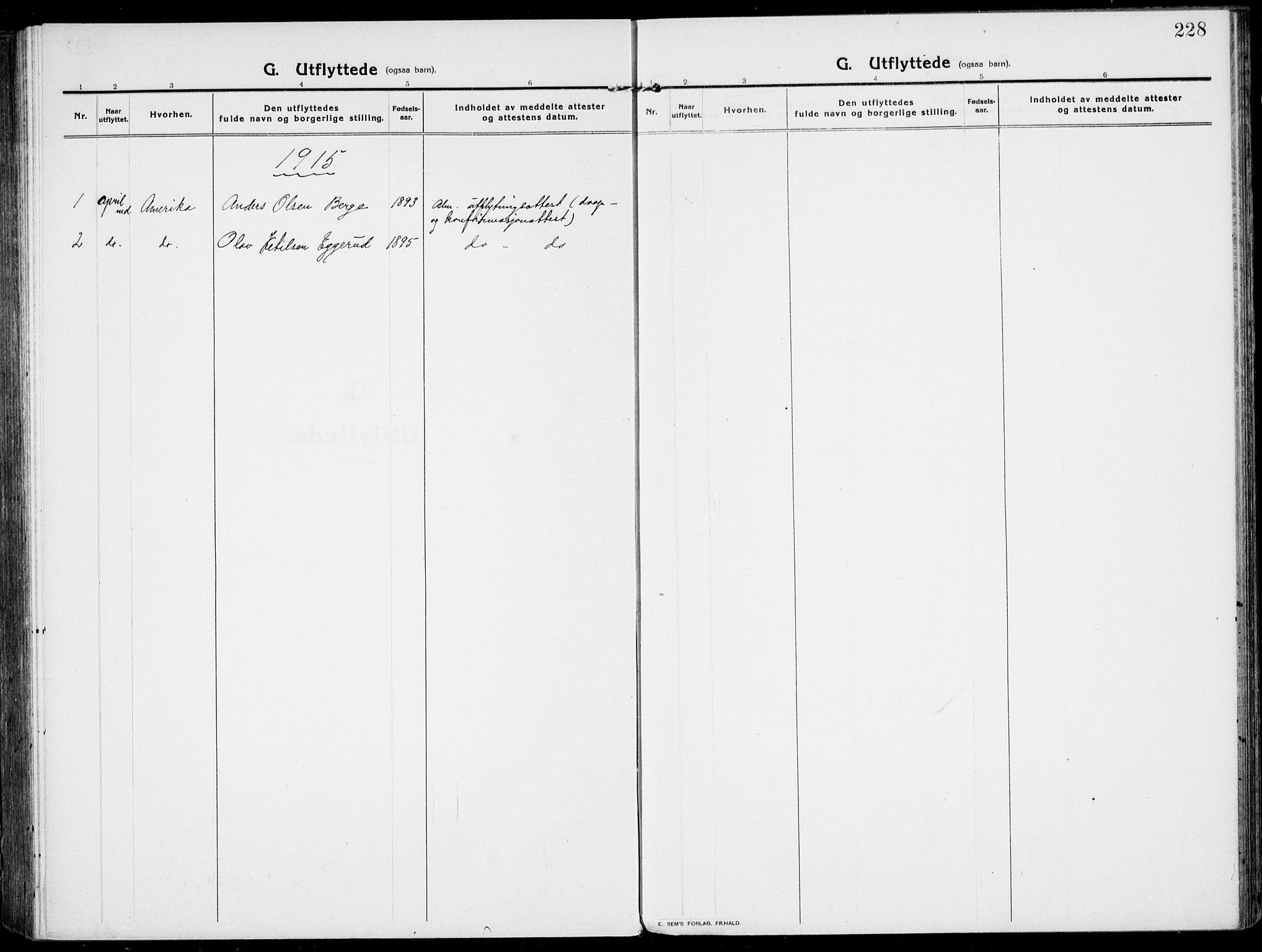 SAKO, Rjukan kirkebøker, F/Fa/L0002: Ministerialbok nr. 2, 1912-1917, s. 228