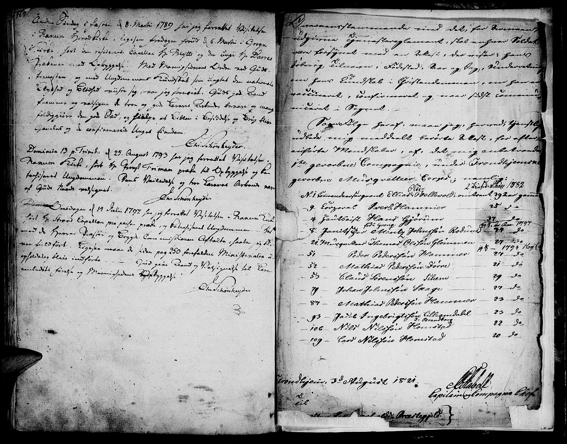 SAT, Ministerialprotokoller, klokkerbøker og fødselsregistre - Nord-Trøndelag, 764/L0544: Ministerialbok nr. 764A04, 1780-1798, s. 464-465
