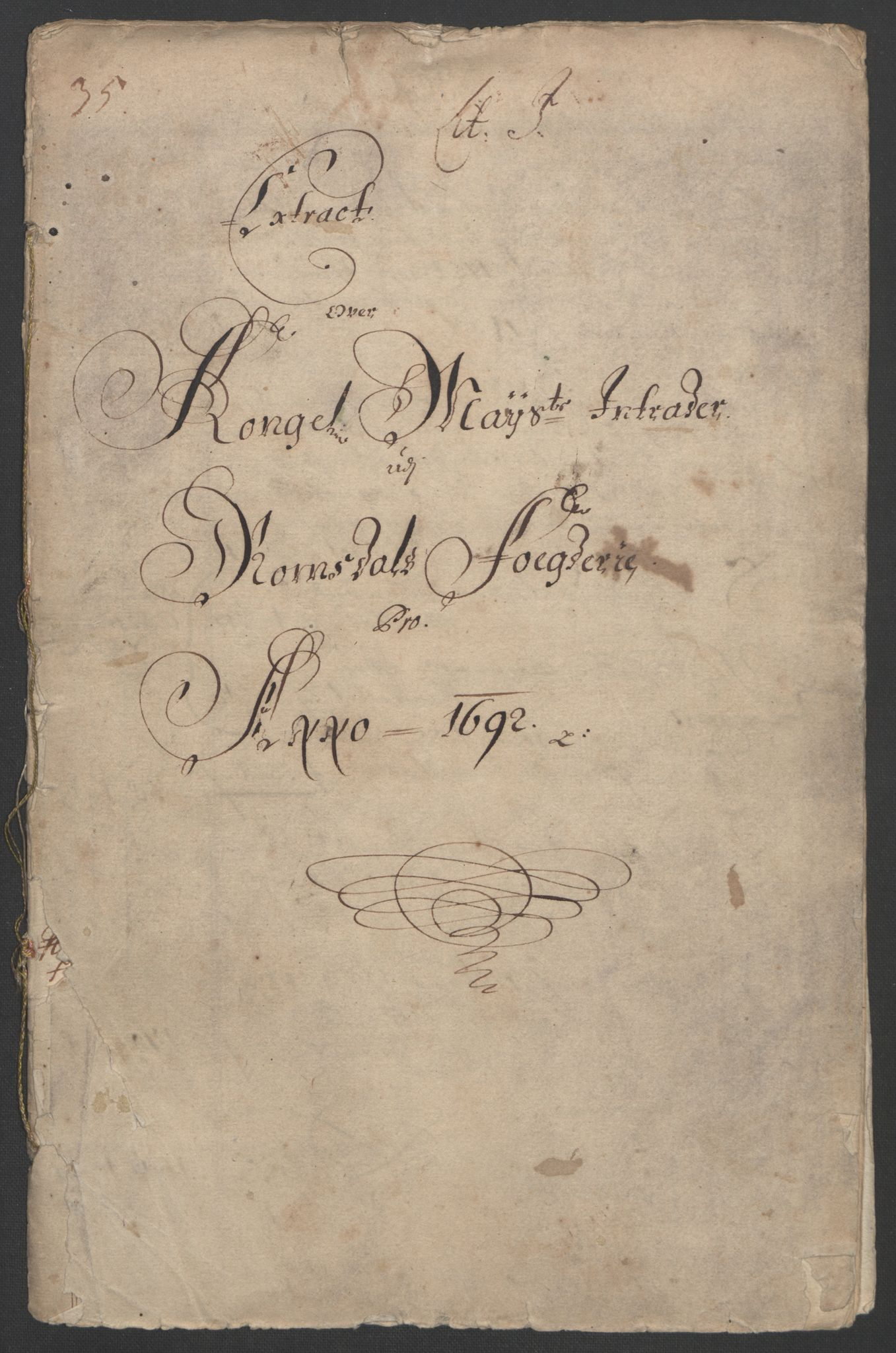 RA, Rentekammeret inntil 1814, Reviderte regnskaper, Fogderegnskap, R55/L3650: Fogderegnskap Romsdal, 1692, s. 3