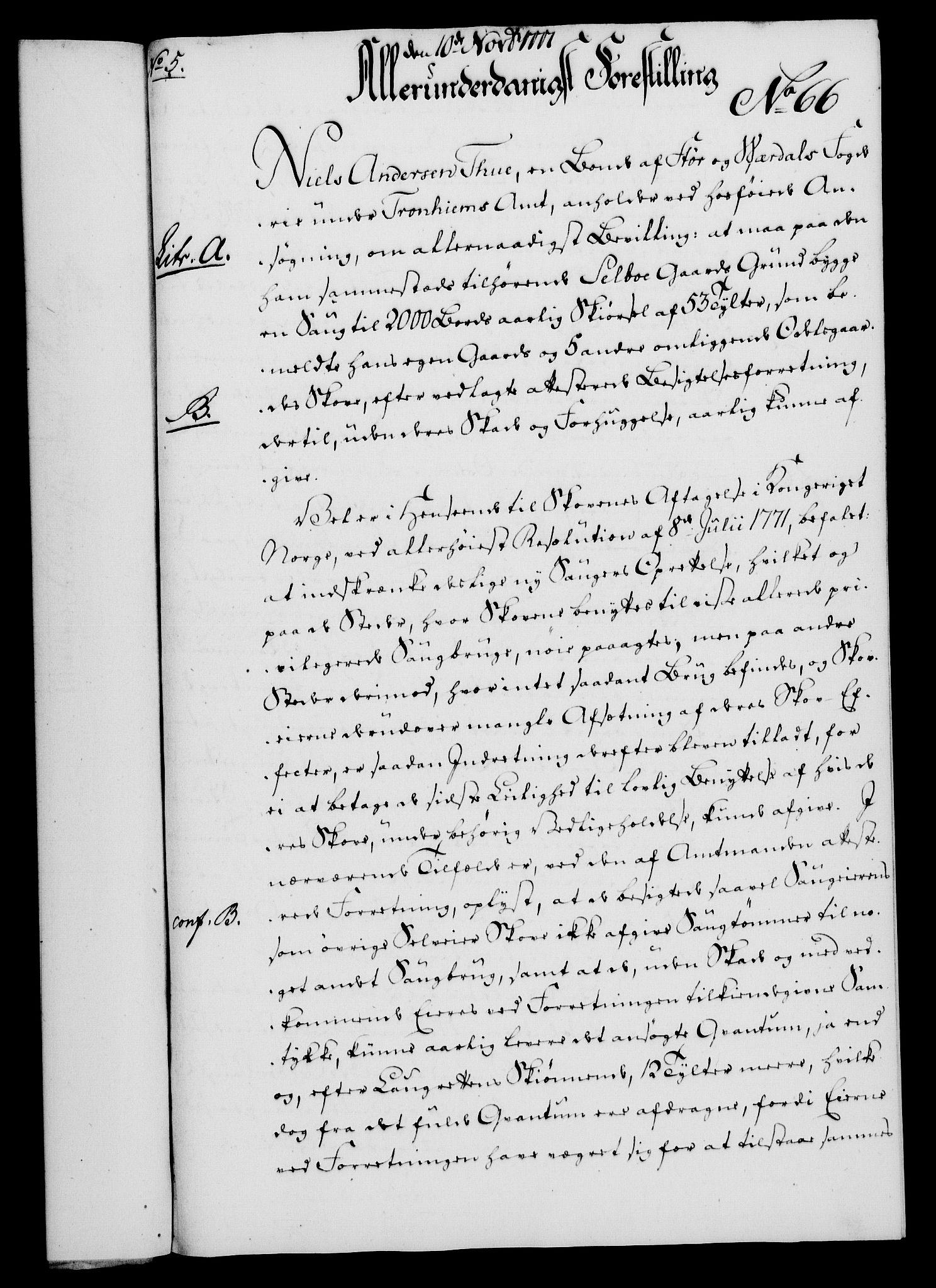RA, Rentekammeret, Kammerkanselliet, G/Gf/Gfa/L0059: Norsk relasjons- og resolusjonsprotokoll (merket RK 52.59), 1777, s. 330