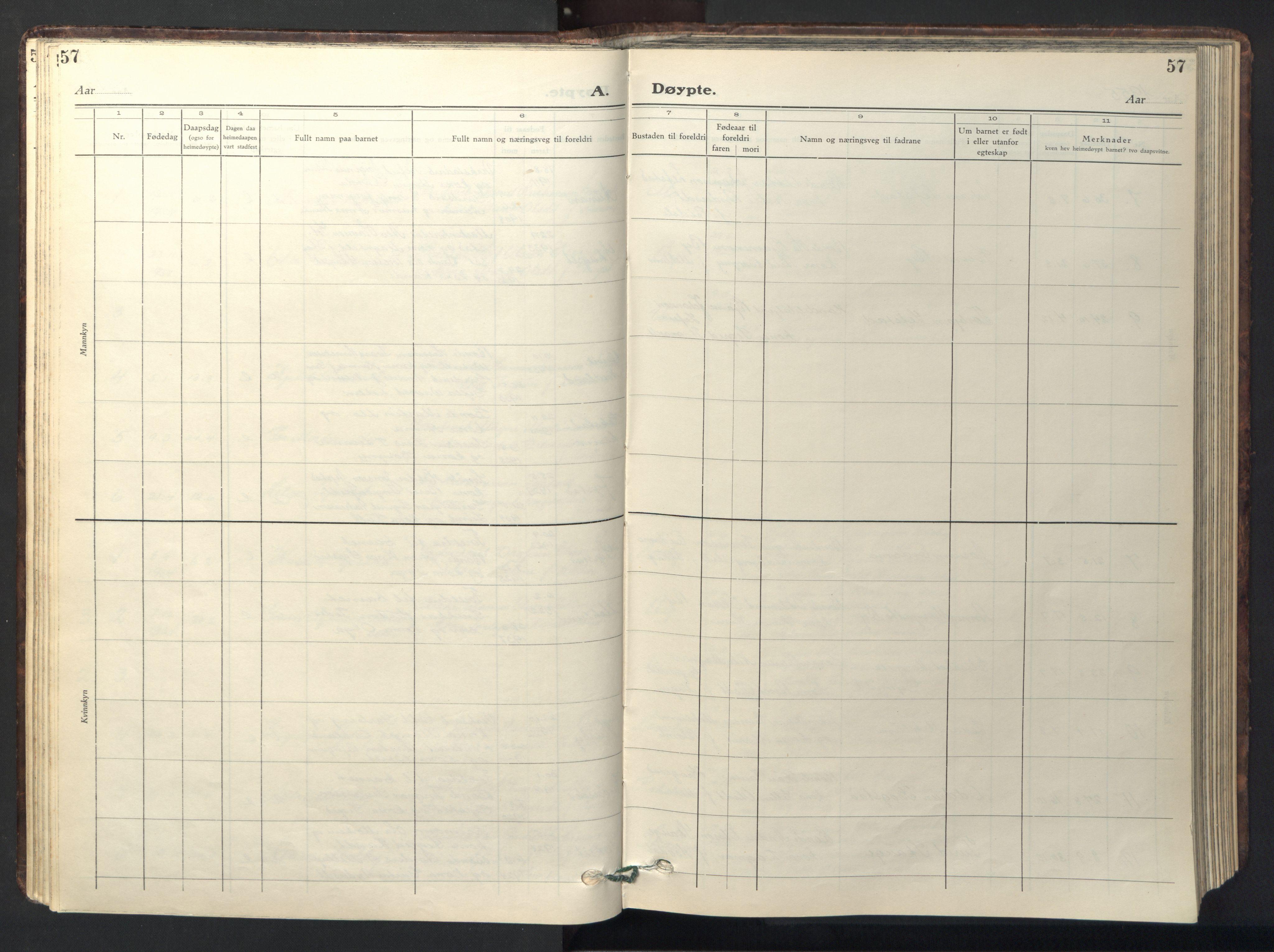 SAT, Ministerialprotokoller, klokkerbøker og fødselsregistre - Sør-Trøndelag, 667/L0799: Klokkerbok nr. 667C04, 1929-1950, s. 57