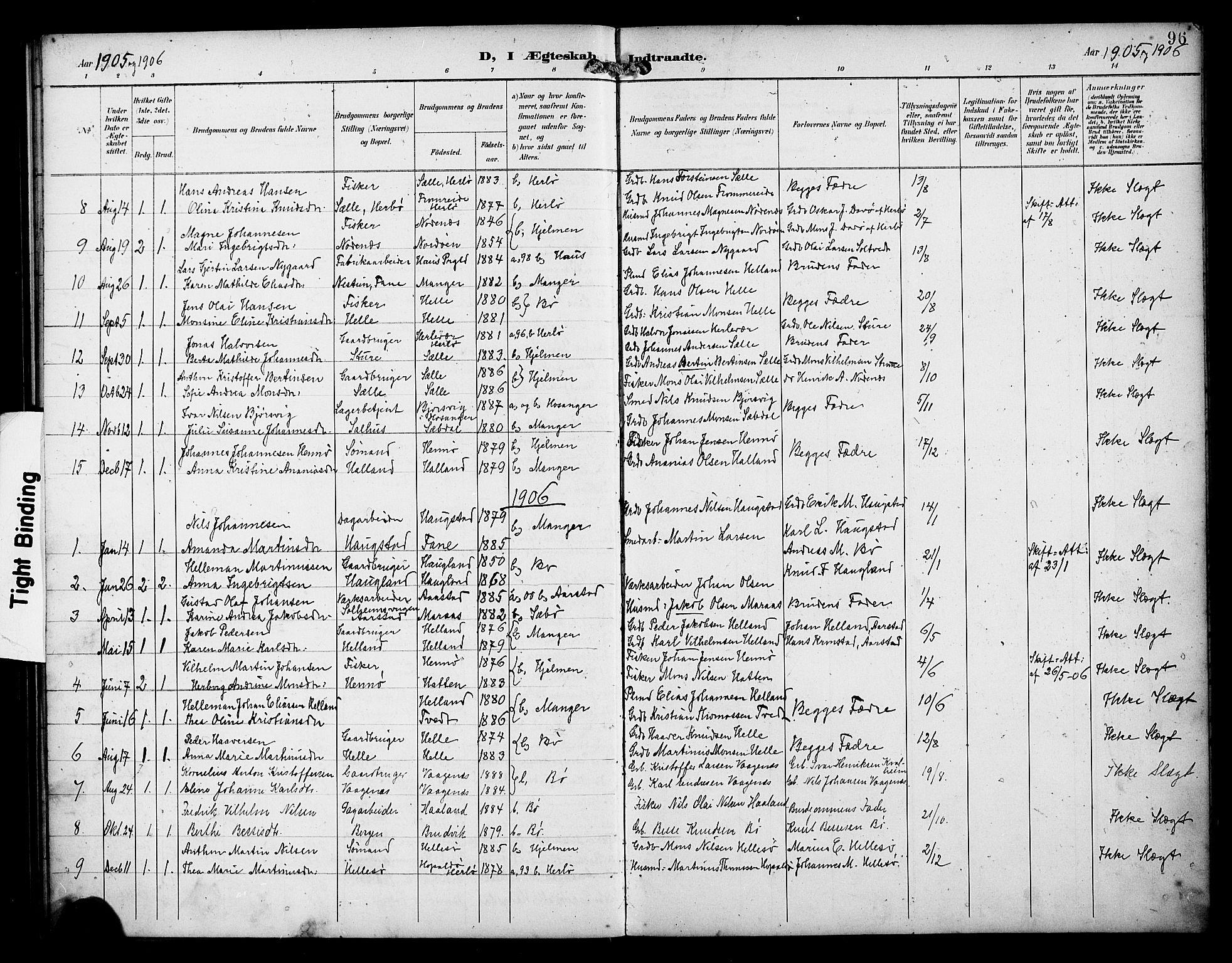 SAB, Manger sokneprestembete, H/Haa: Ministerialbok nr. B 2, 1893-1906, s. 96