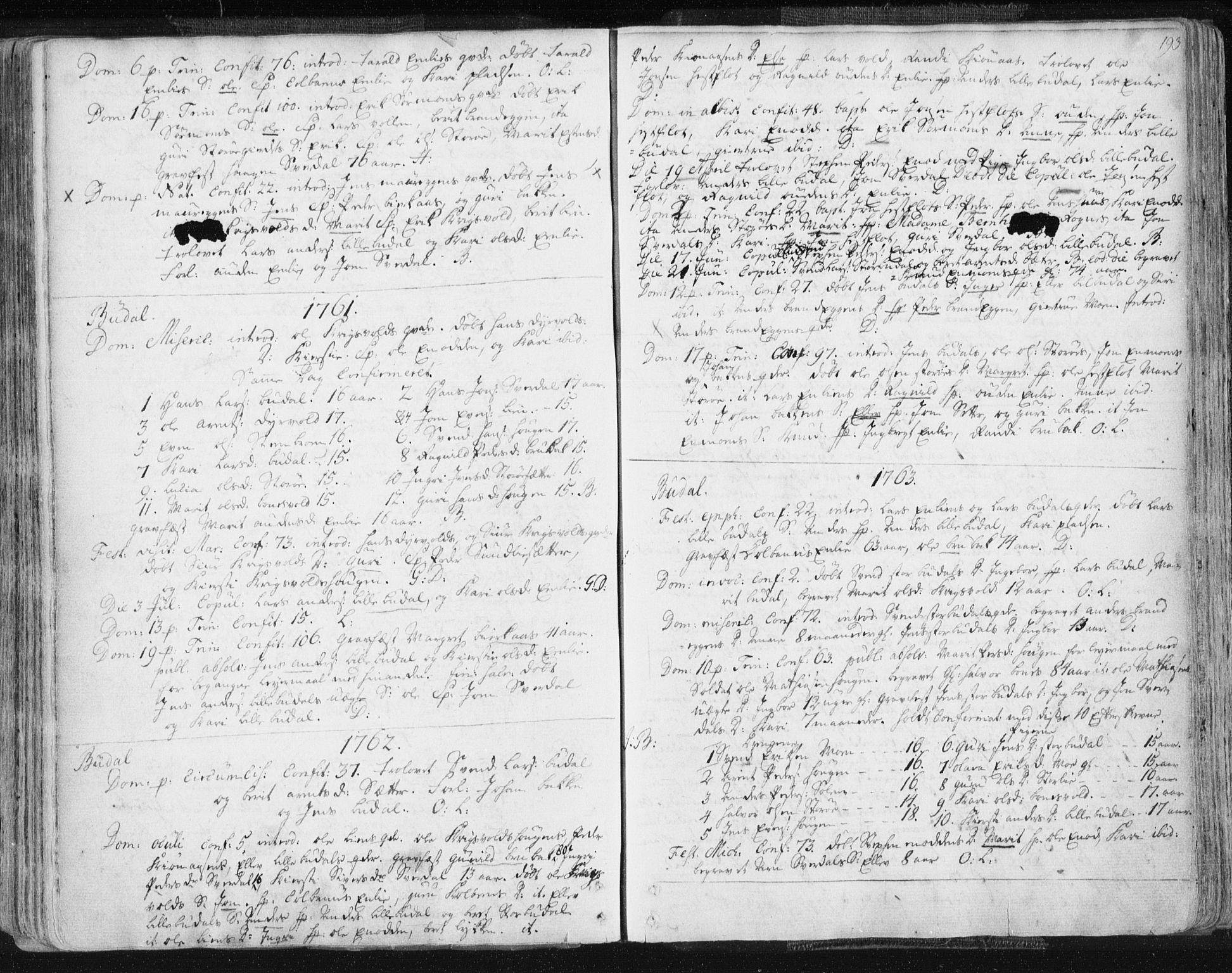 SAT, Ministerialprotokoller, klokkerbøker og fødselsregistre - Sør-Trøndelag, 687/L0991: Ministerialbok nr. 687A02, 1747-1790, s. 193