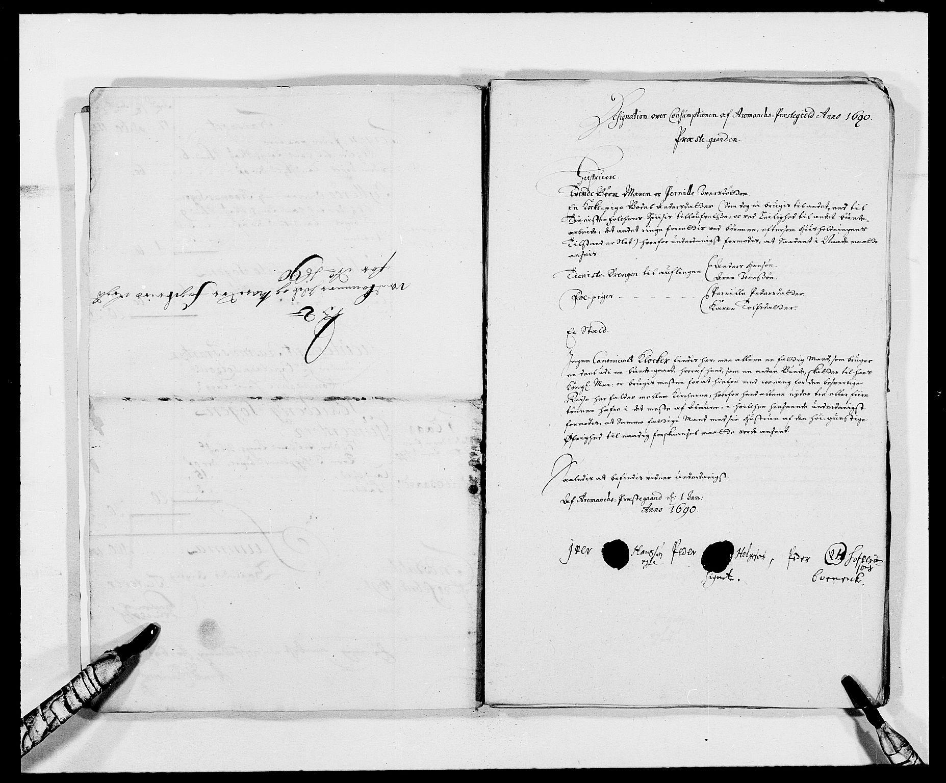 RA, Rentekammeret inntil 1814, Reviderte regnskaper, Fogderegnskap, R01/L0010: Fogderegnskap Idd og Marker, 1690-1691, s. 48