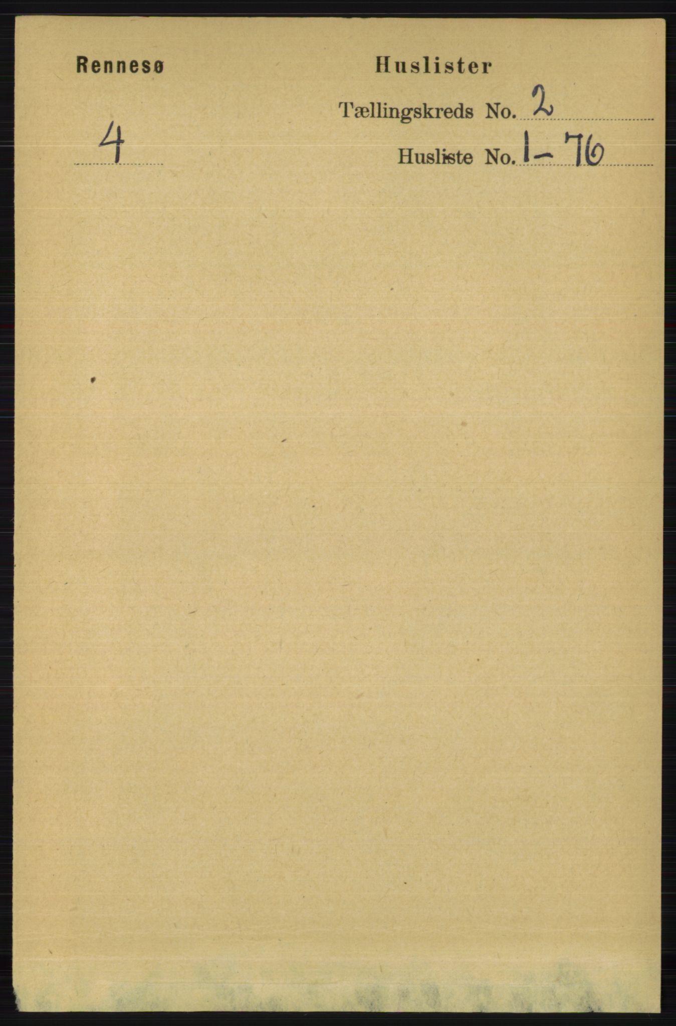 RA, Folketelling 1891 for 1142 Rennesøy herred, 1891, s. 376