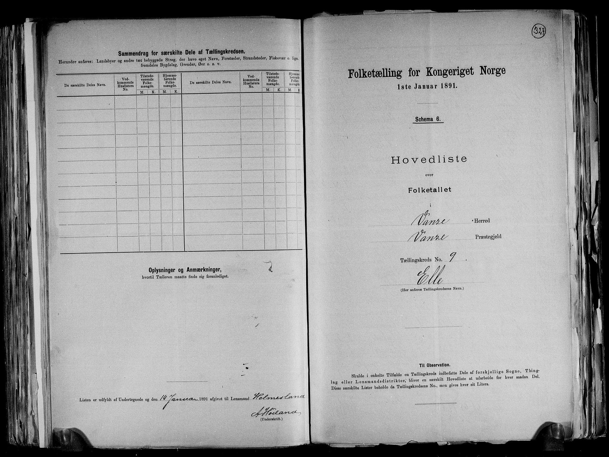 RA, Folketelling 1891 for 1041 Vanse herred, 1891, s. 34