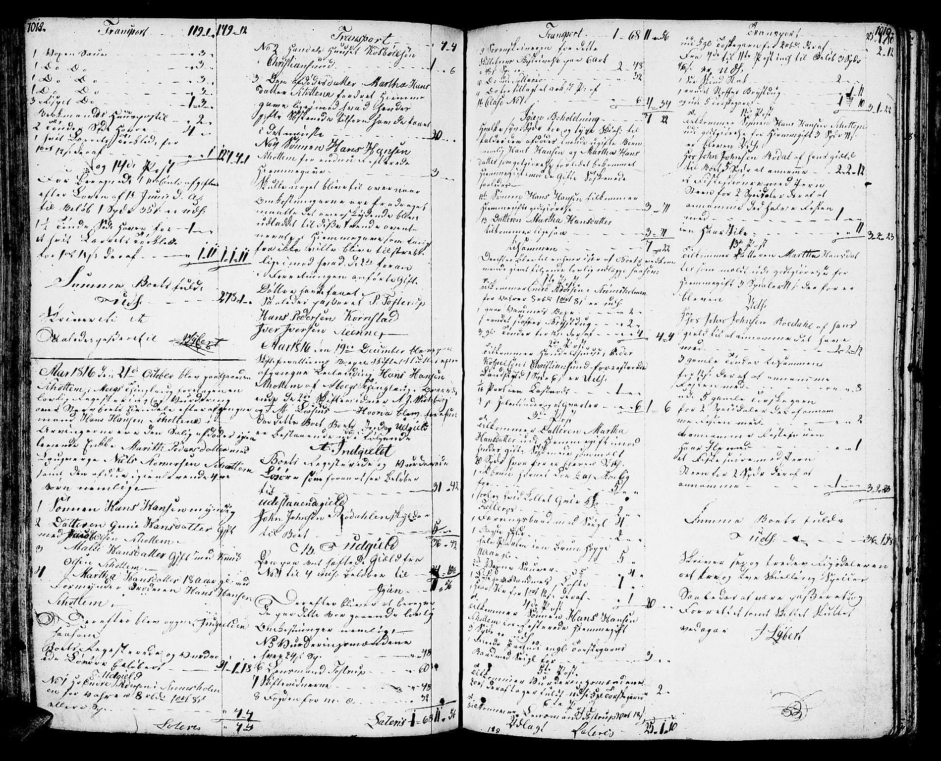 SAT, Nordmøre sorenskriveri, 3/3A/L0025: Skifteprotokoll nr. 23, 1813-1817, s. 1018-1019