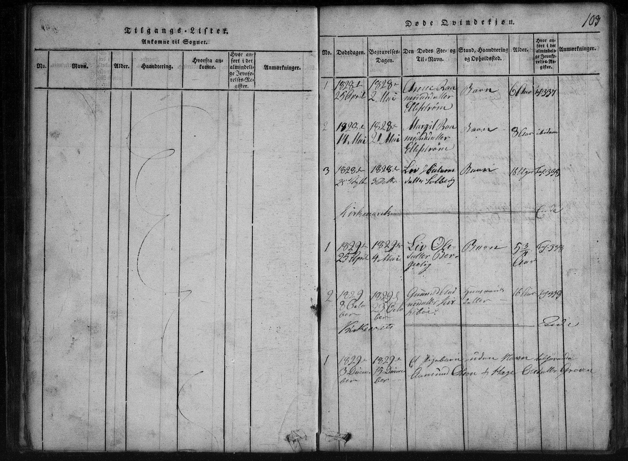 SAKO, Rauland kirkebøker, G/Gb/L0001: Klokkerbok nr. II 1, 1815-1886, s. 103