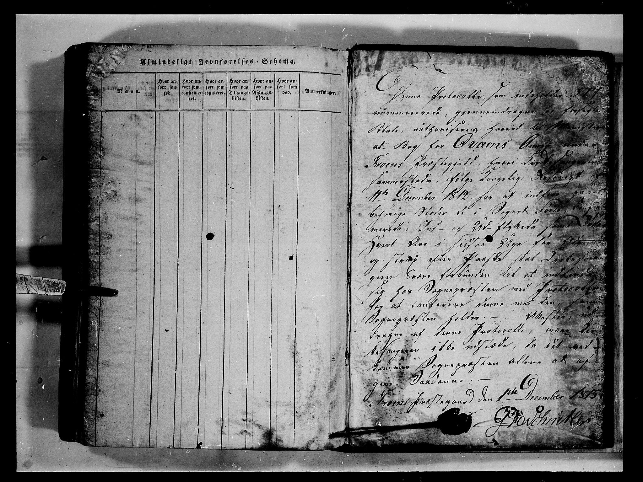SAH, Fron prestekontor, H/Ha/Hab/L0002: Klokkerbok nr. 2, 1816-1850